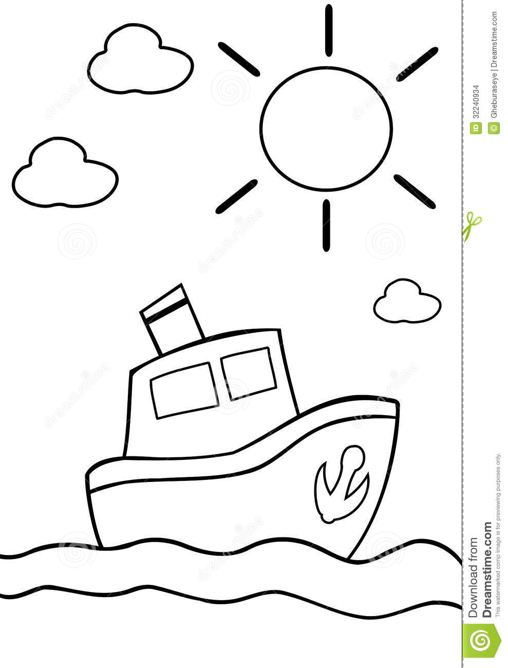 coloring boat stock images