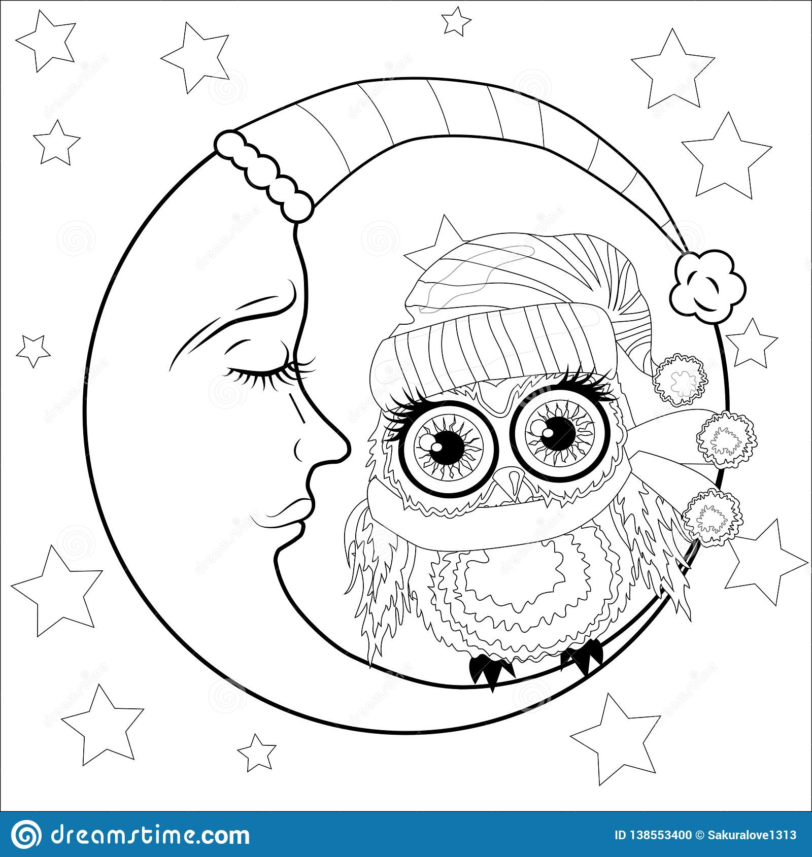 Coloring Book For Adult And Children Coloring Page With