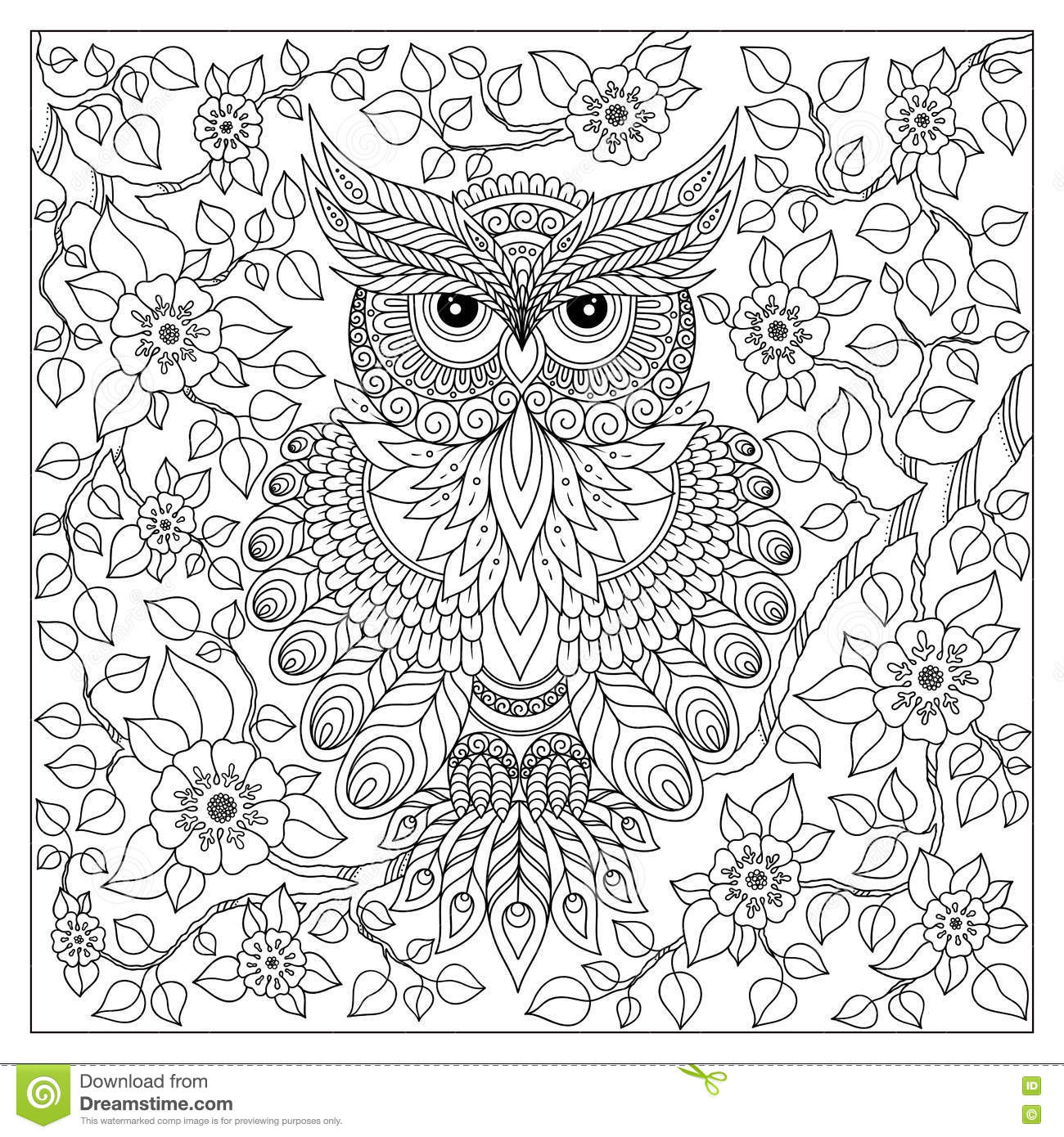 Coloring book for adult and older children stock vector for Coloring pages for older kids