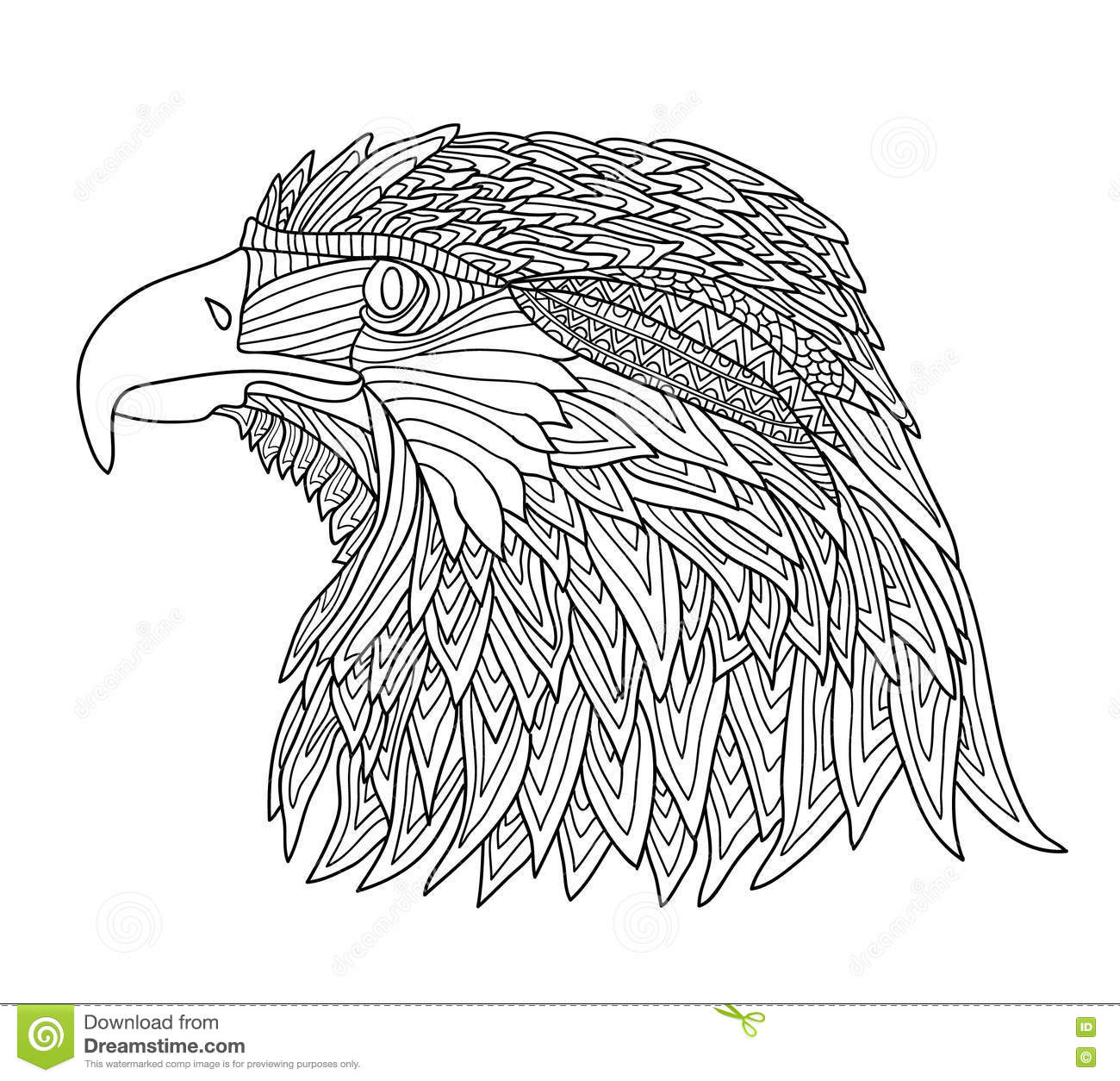 Coloring books for adults and children - Coloring Book For Adults And Children Brutal Eagle