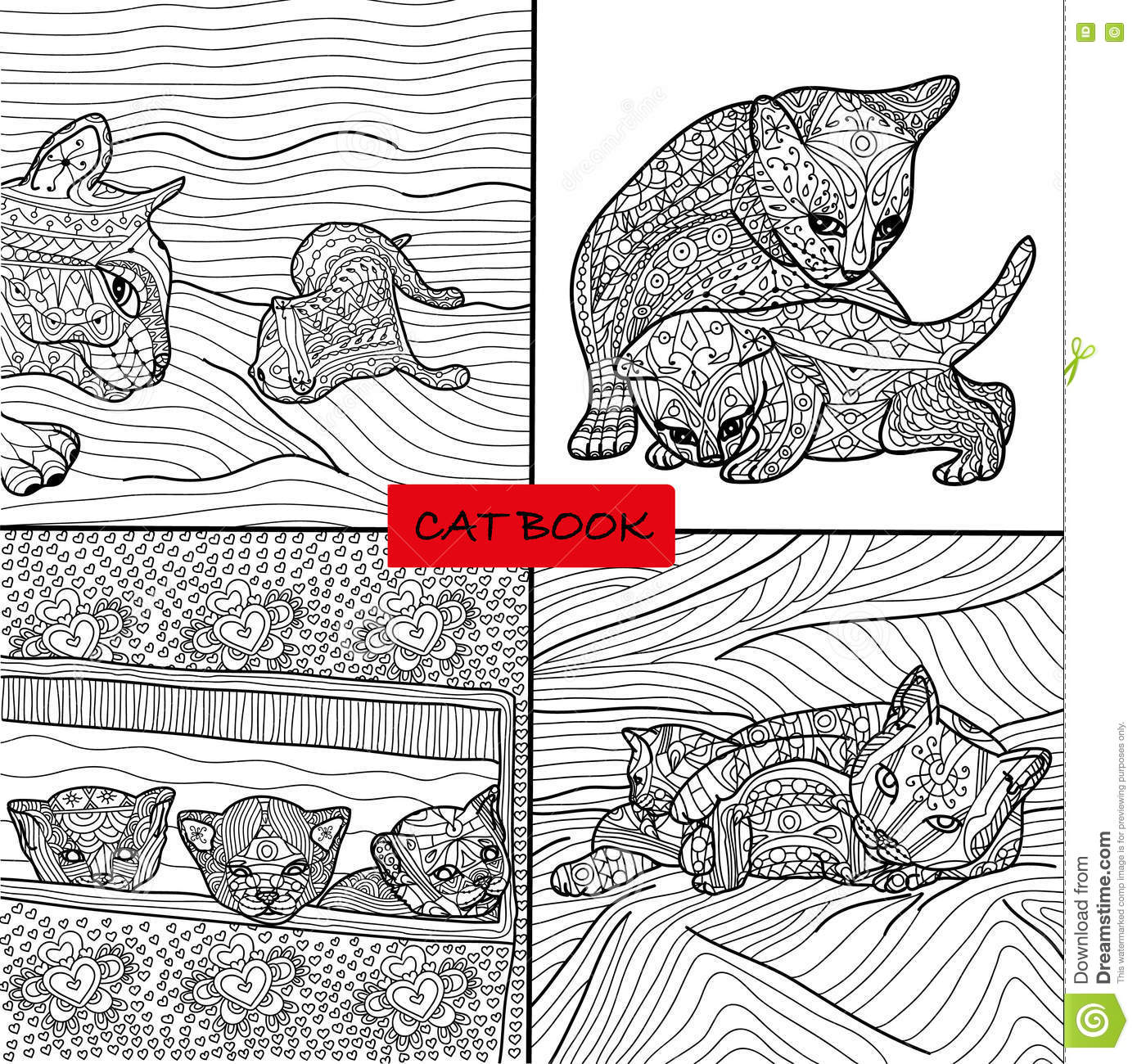 Coloring books for adults and children - Coloring Book For Adults Cat Pages For Adults And Children Doodle Adult Coloring