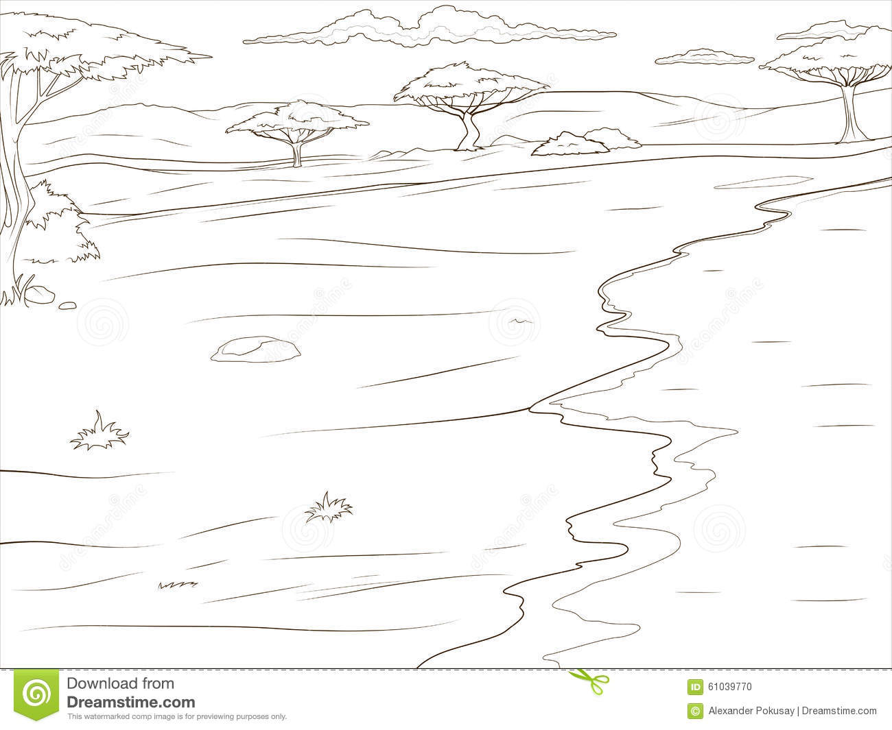 african savannah tree coloring pages - photo#14