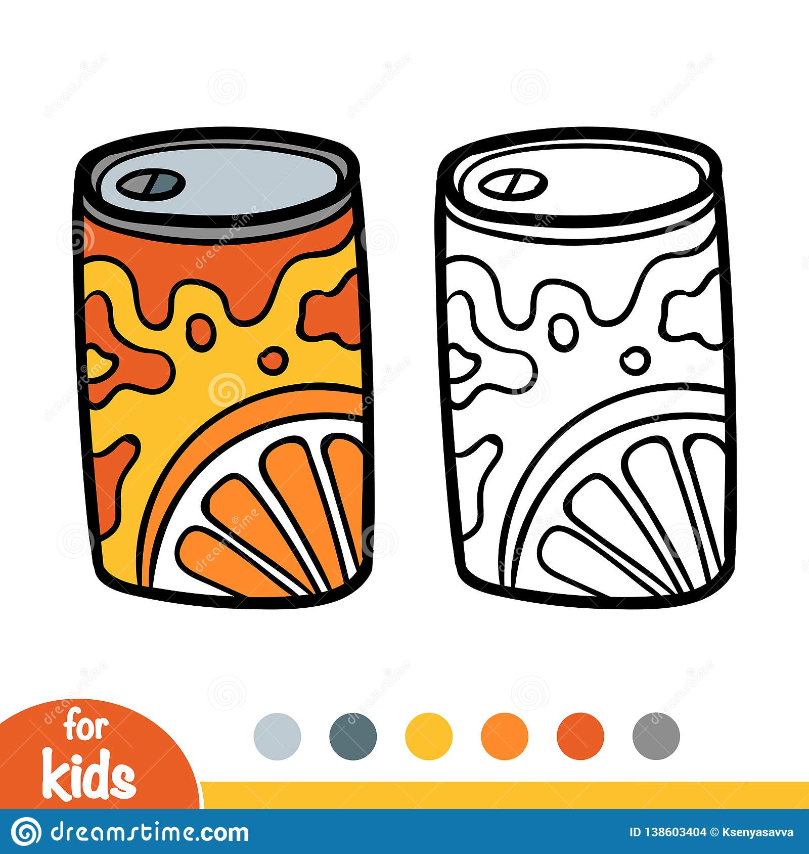 Coloring Book, Aluminum Soda Can Stock Vector - Illustration of ...