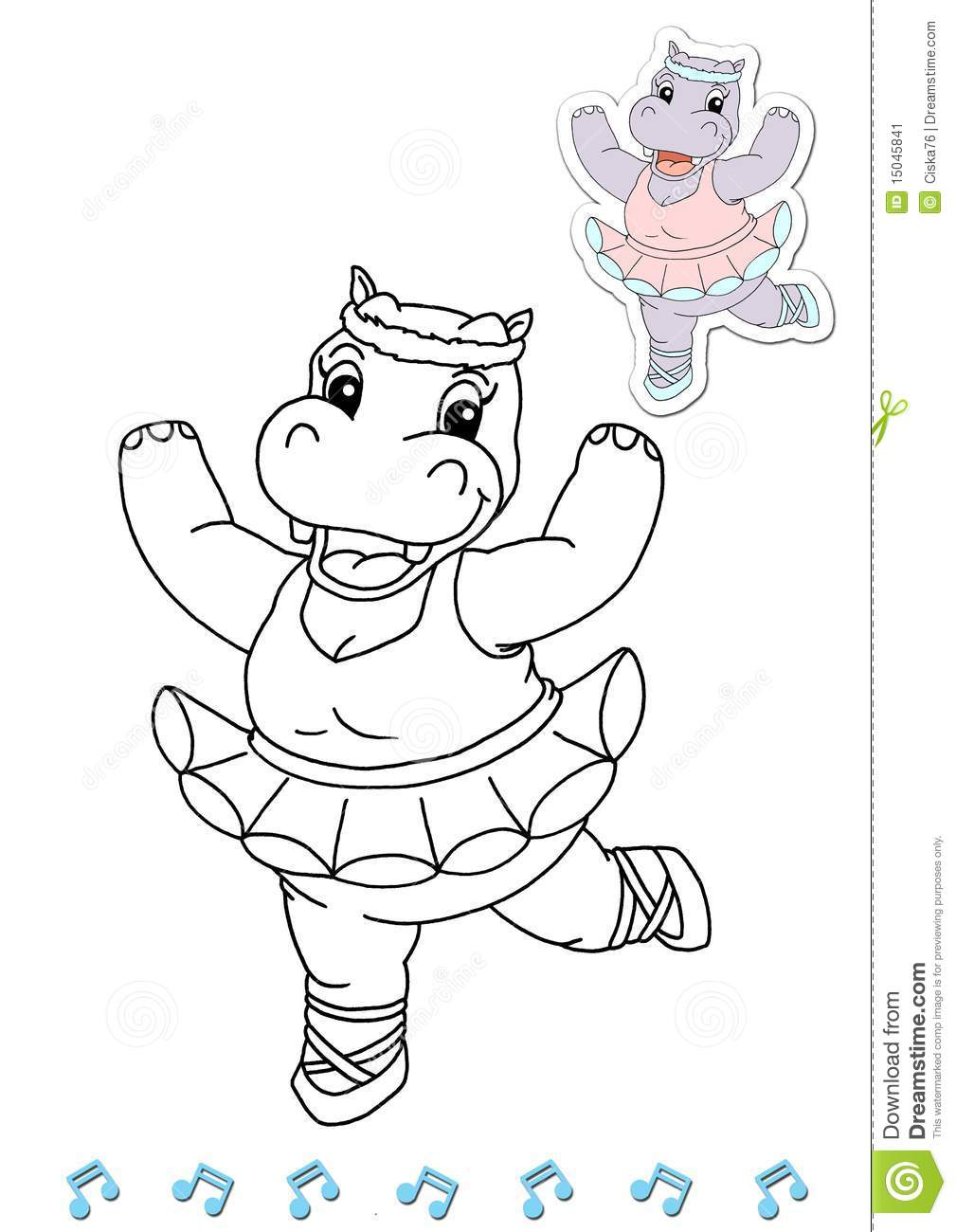 Coloring Book Animal Dancers 17