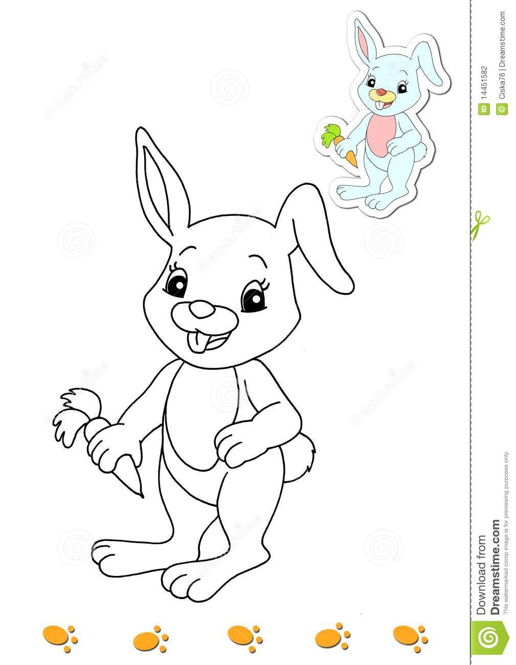 Coloring Book Of Animals 13 - Rabbit Stock Photography - Image ...