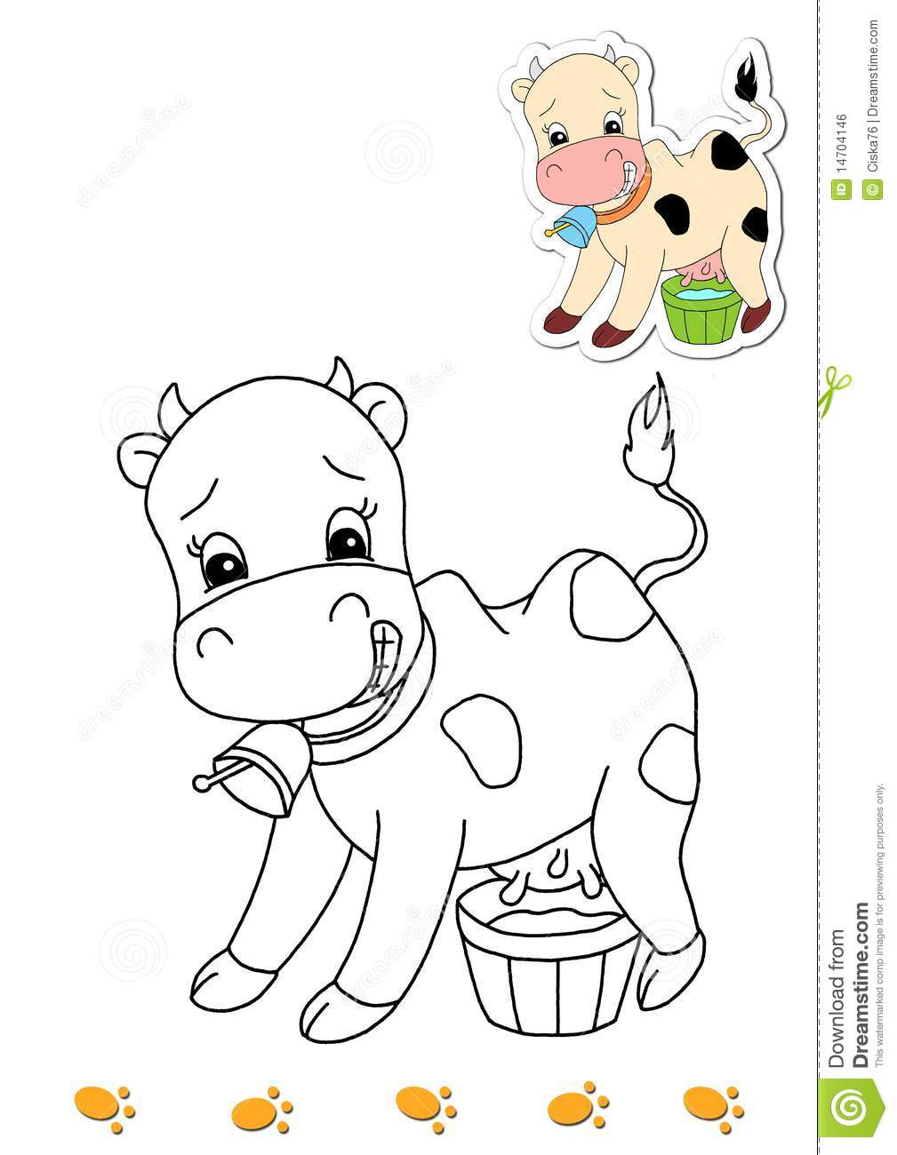 coloring book of animals 16 cow royalty free stock image image