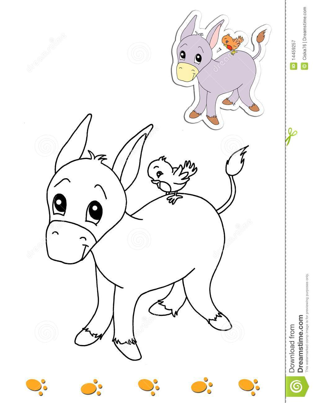 Coloring book of animals 18 - donkey