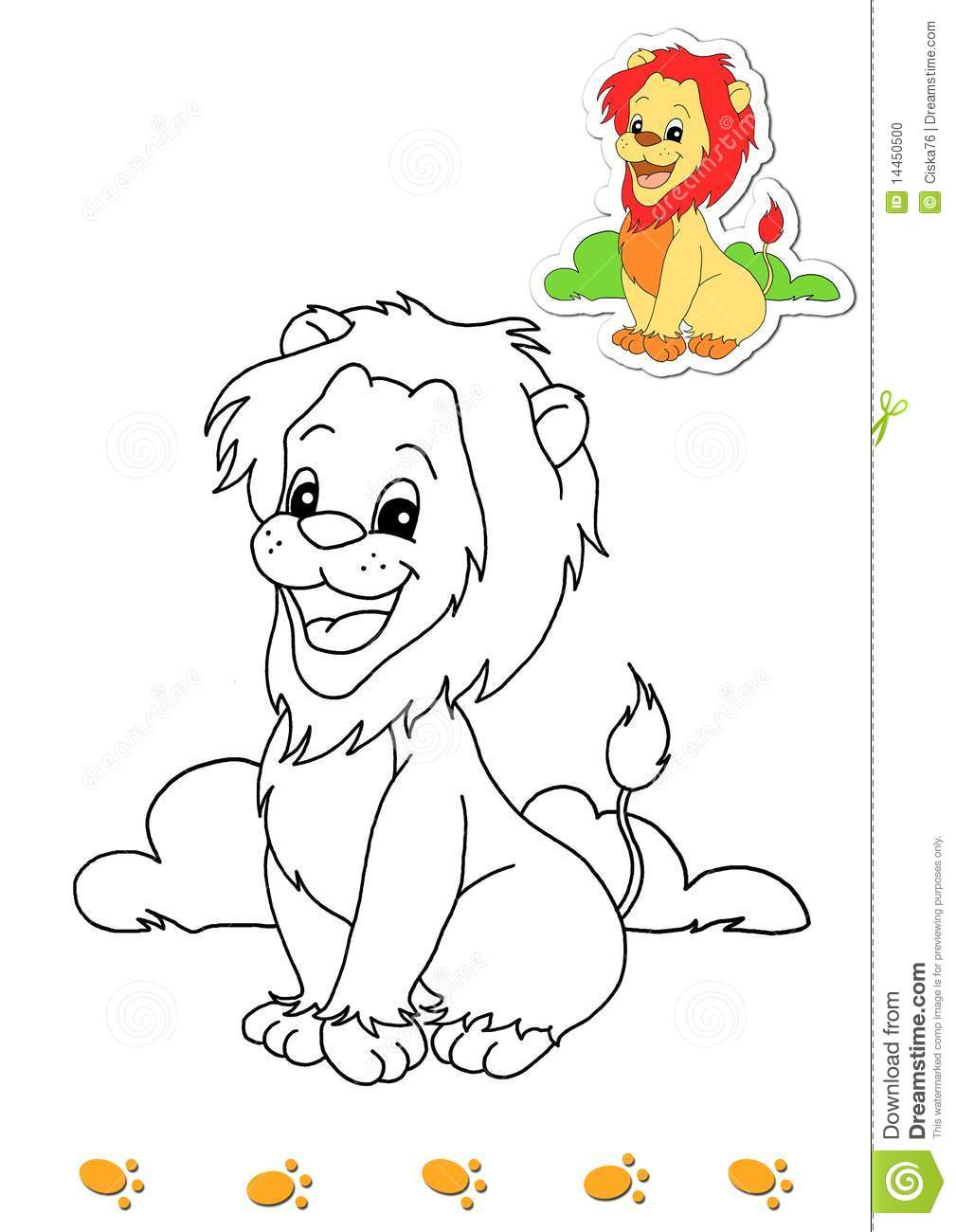 Coloring book of animals 4 - lion
