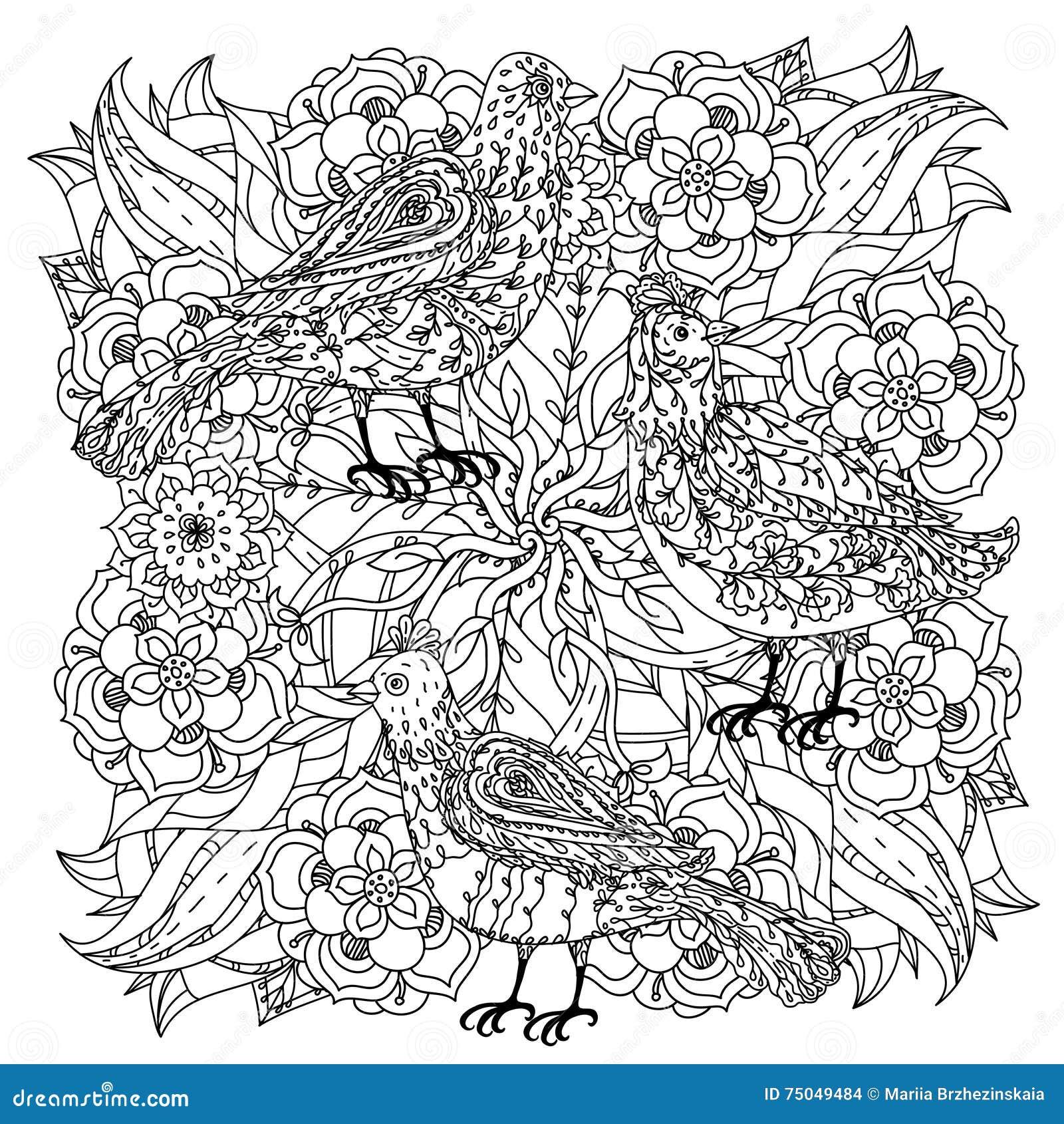 Disegni Da Colorare Antistress.Coloring Book Antistress Style Picture Stock Vector Illustration