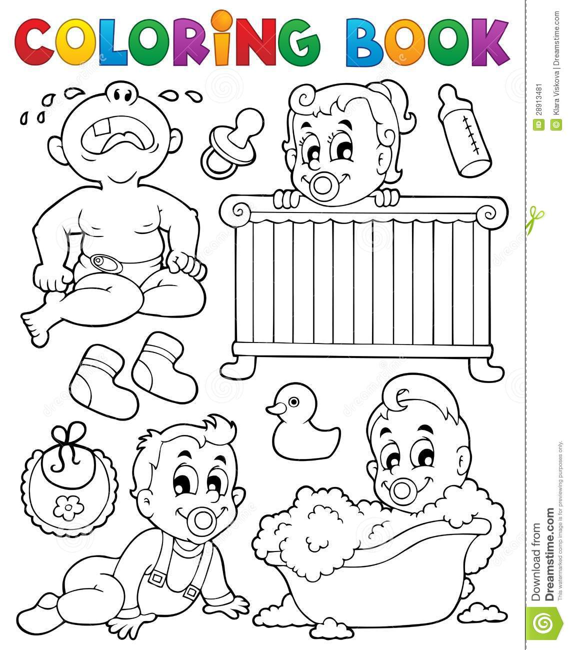 Coloring Book Babies Theme Image 1 Stock Image - Image: 28913481