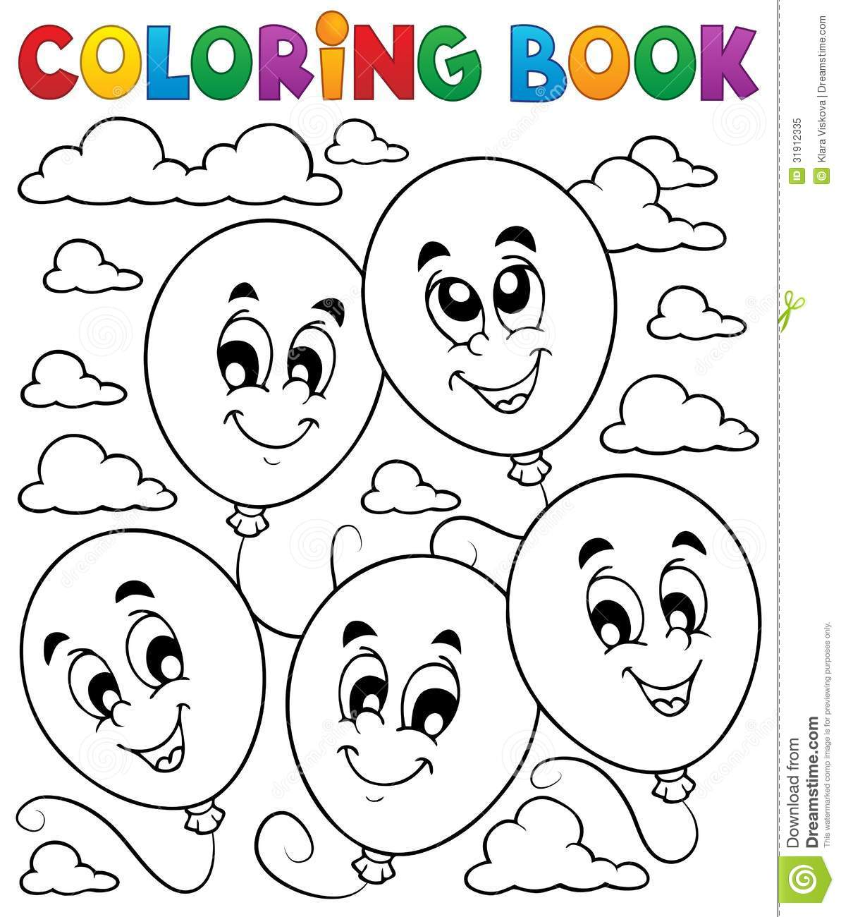 Galerry cartoon colouring in book