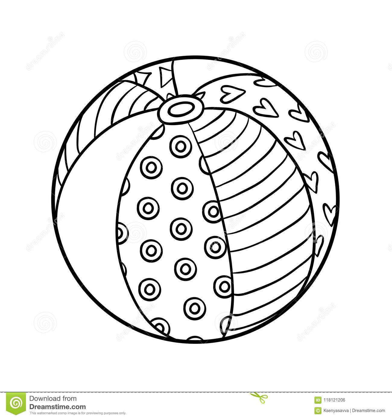 Download Coloring Book Beach Ball Stock Vector Illustration Of Color