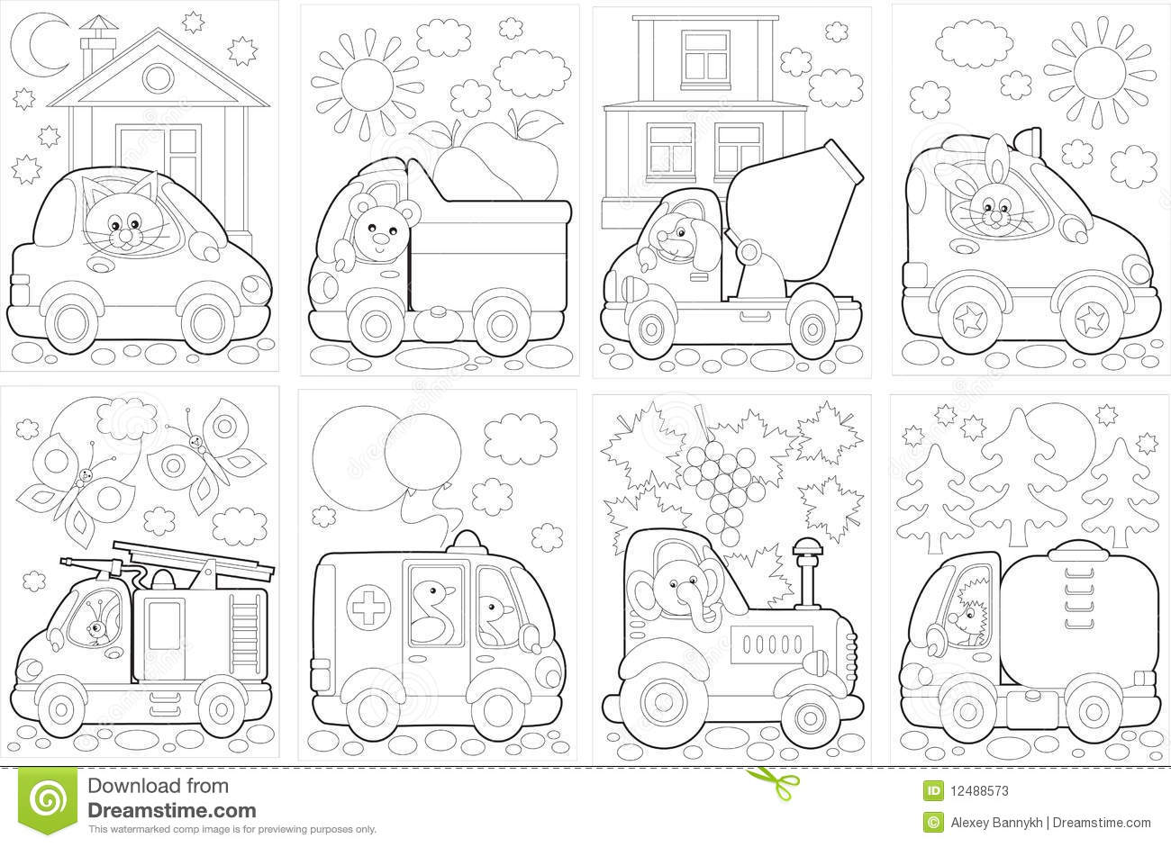 Royalty Free Stock Photo Download Coloring Book Cars