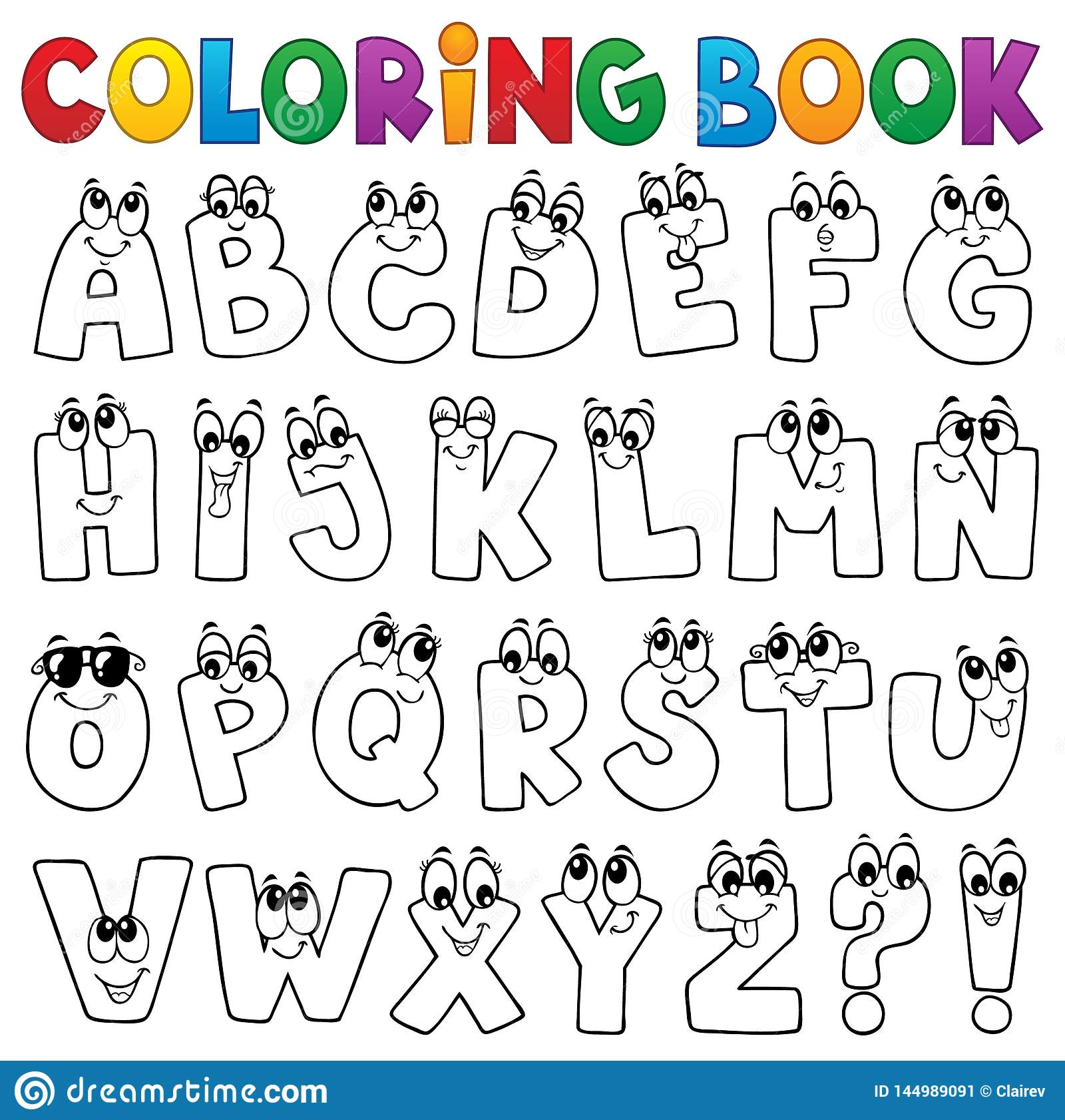 Alphabet Cartoon Figure Stock Illustrations – 32,32 Alphabet ...
