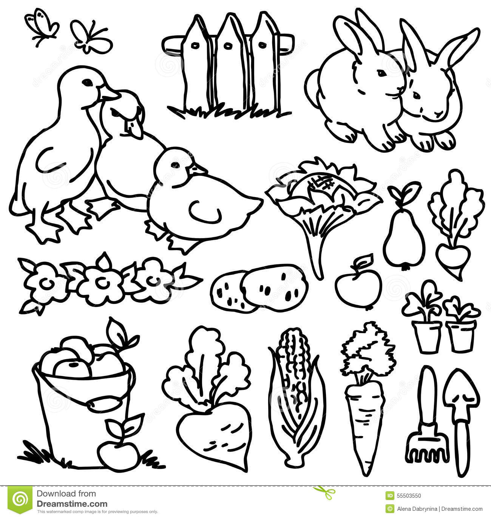 Cute Cow Cartoon On Flower Garden Stock Photography