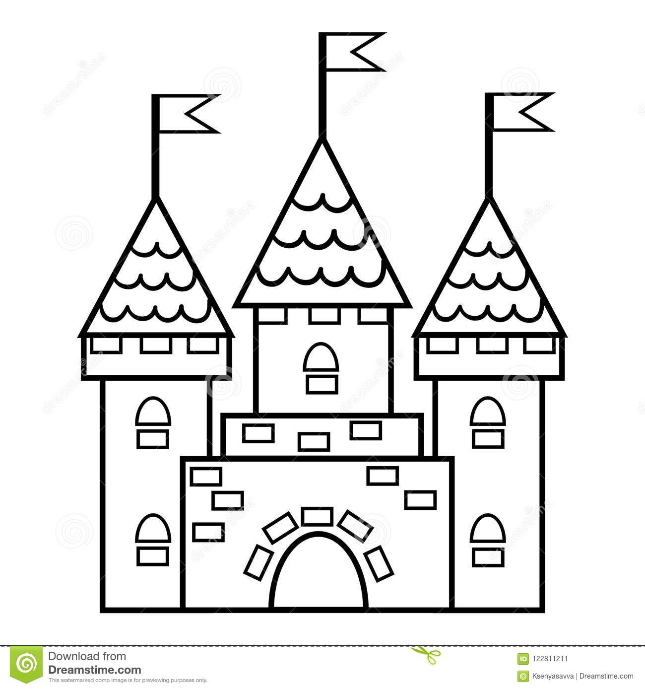 - Coloring Book, Castle Stock Vector. Illustration Of Kingdom