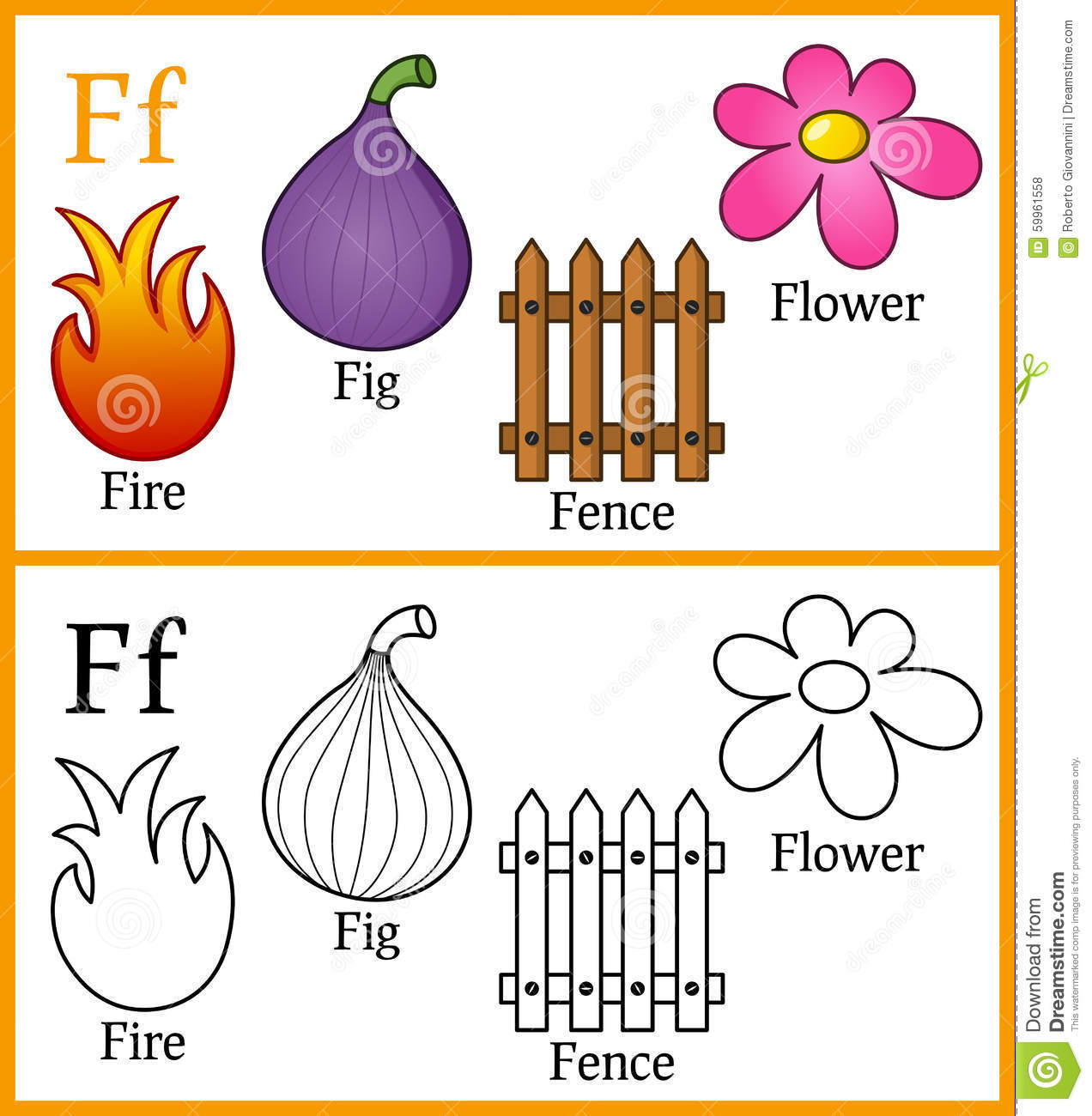 coloring book for children alphabet f royalty free stock photos - Coloring Book For Children