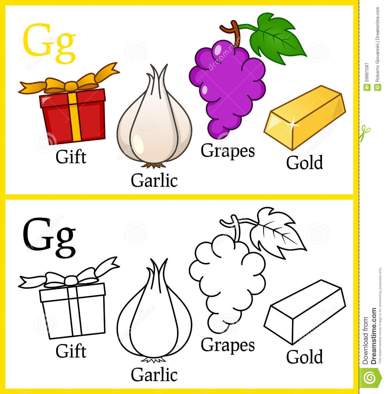 coloring book for children alphabet g royalty free stock photography - Coloring Book For Children
