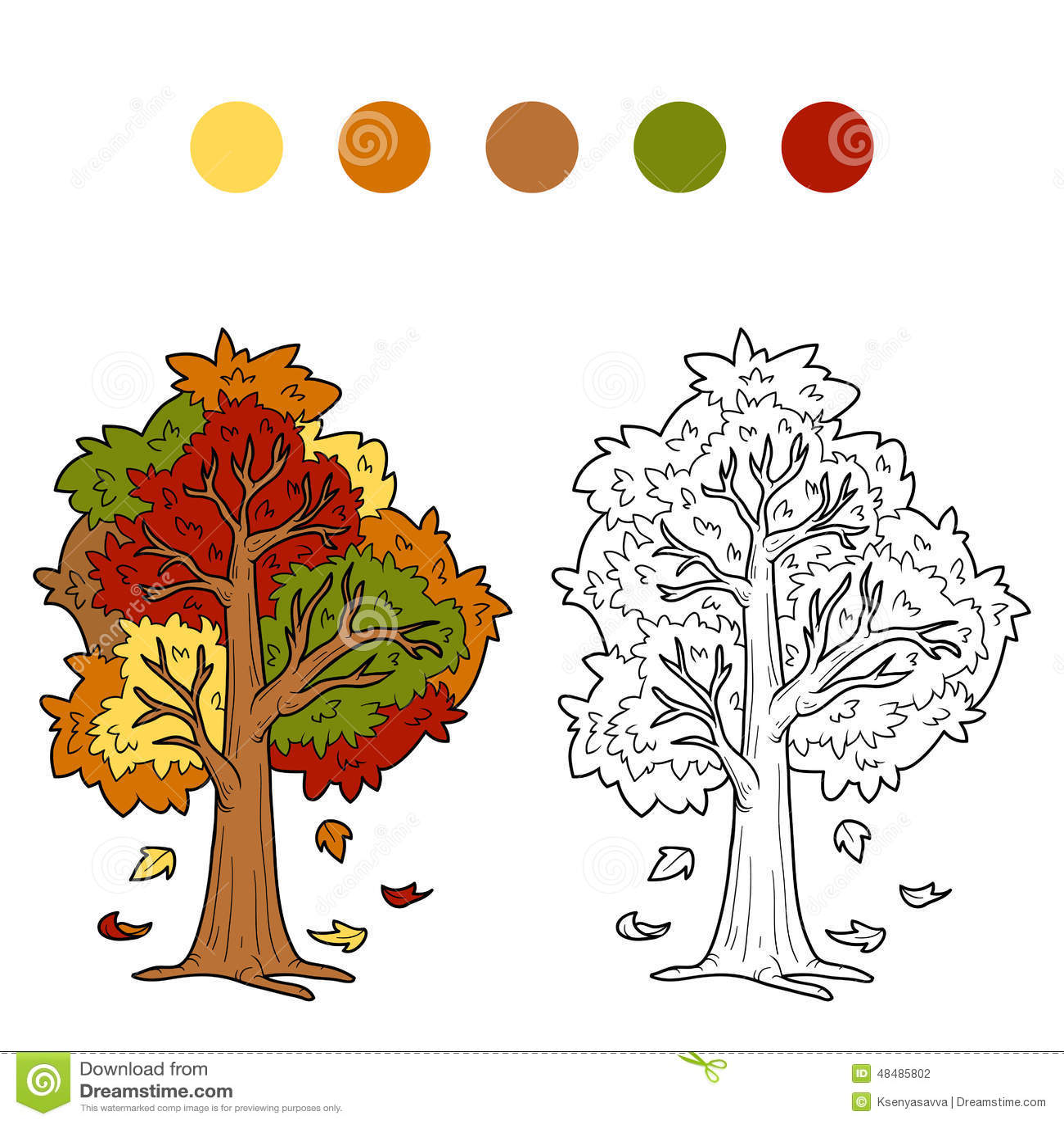 autumn book children coloring - Coloring Book For Children