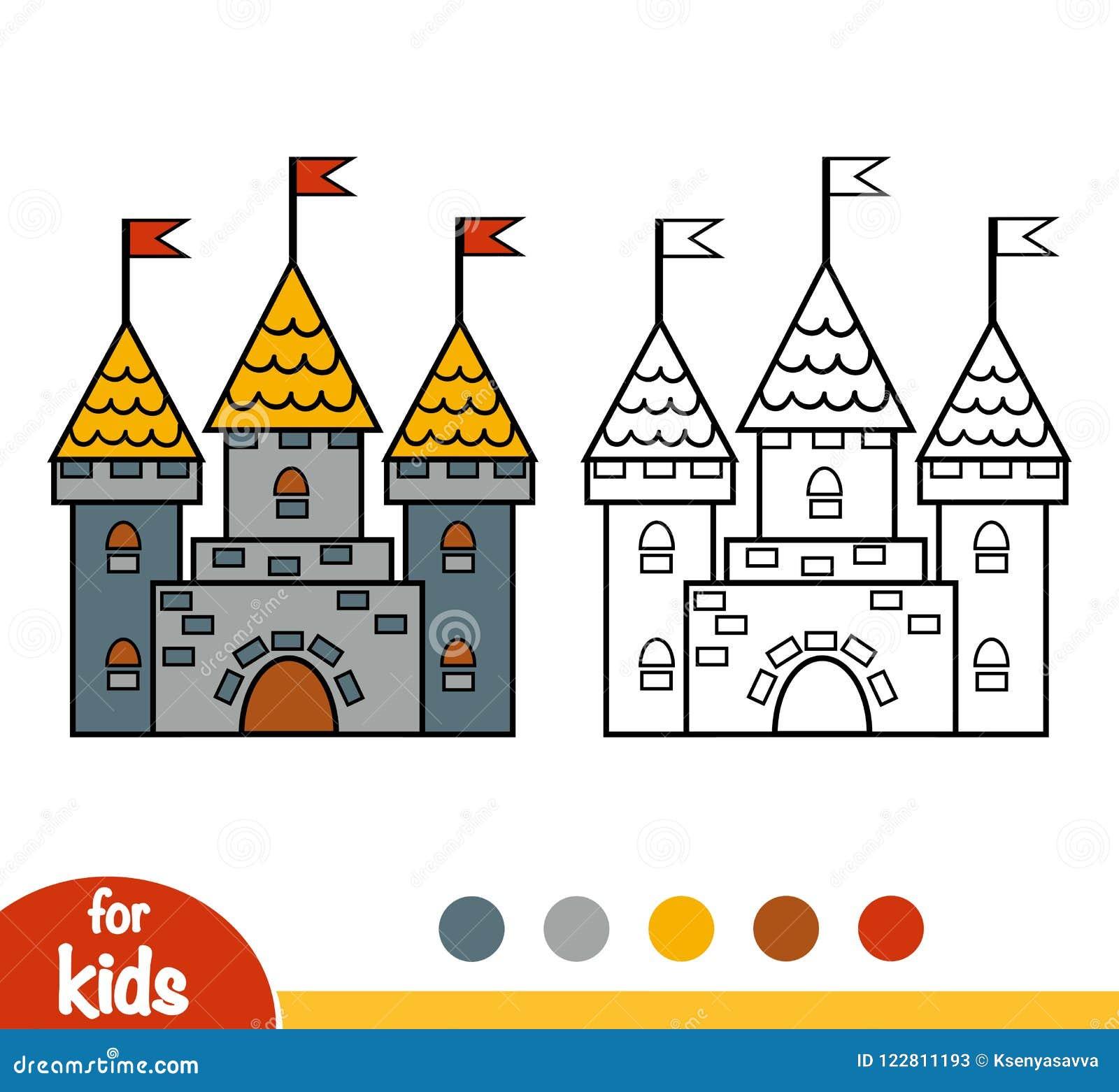 coloring book children castle coloring book castle