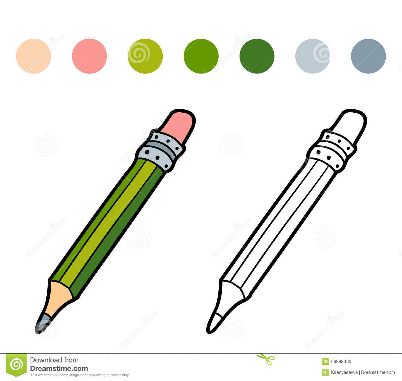 coloring book for children color pencil stock vector image