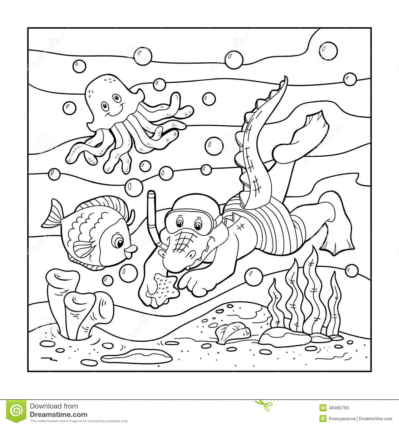 ocean bottom coloring pages-#8