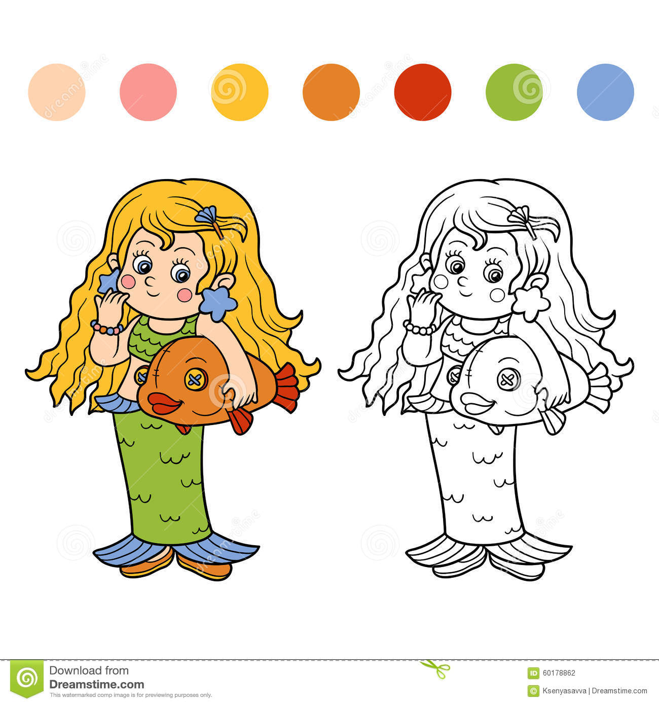 coloring book for children halloween characters mermaid - Colouring Book For Children