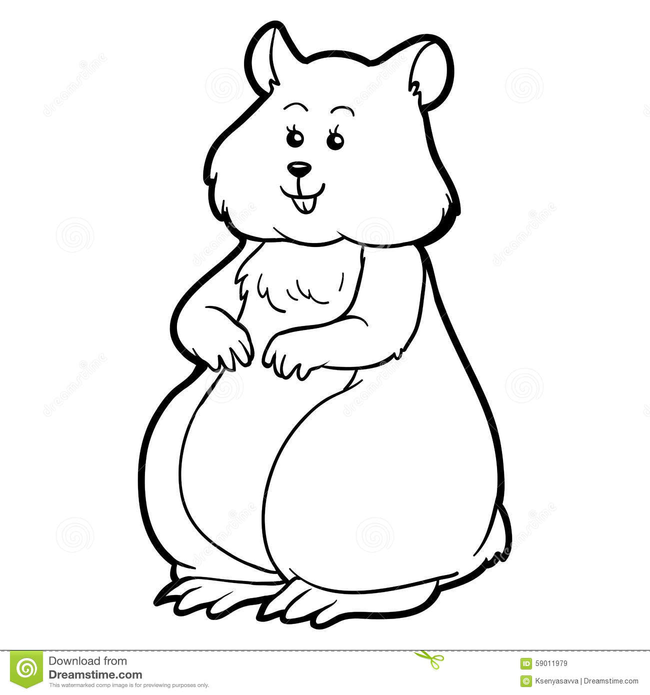 Coloring Book For Children Hamster Animal