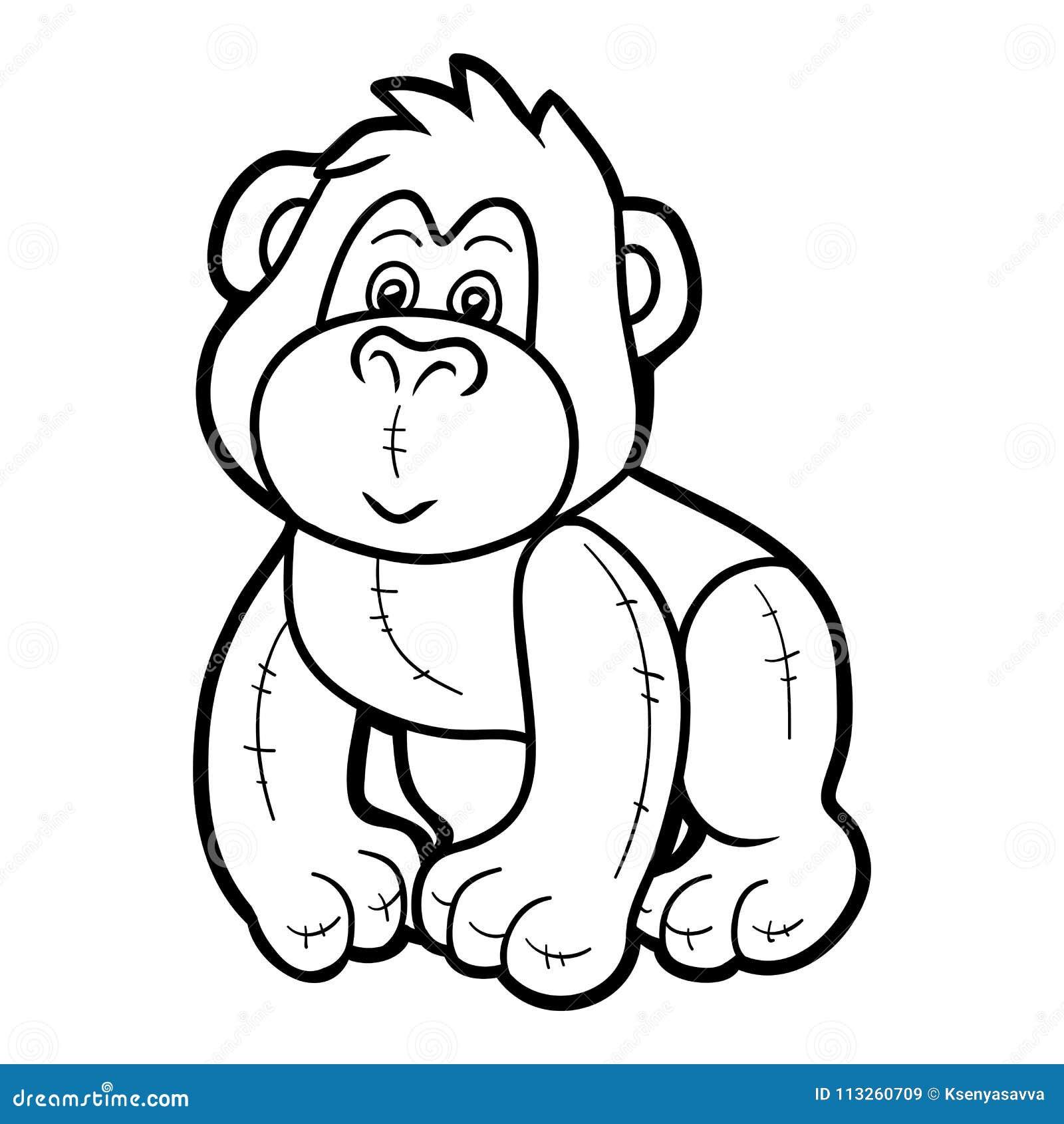 Gorilla Coloring book Ape Drawing Child, gorilla, white, mammal ... | 1390x1300