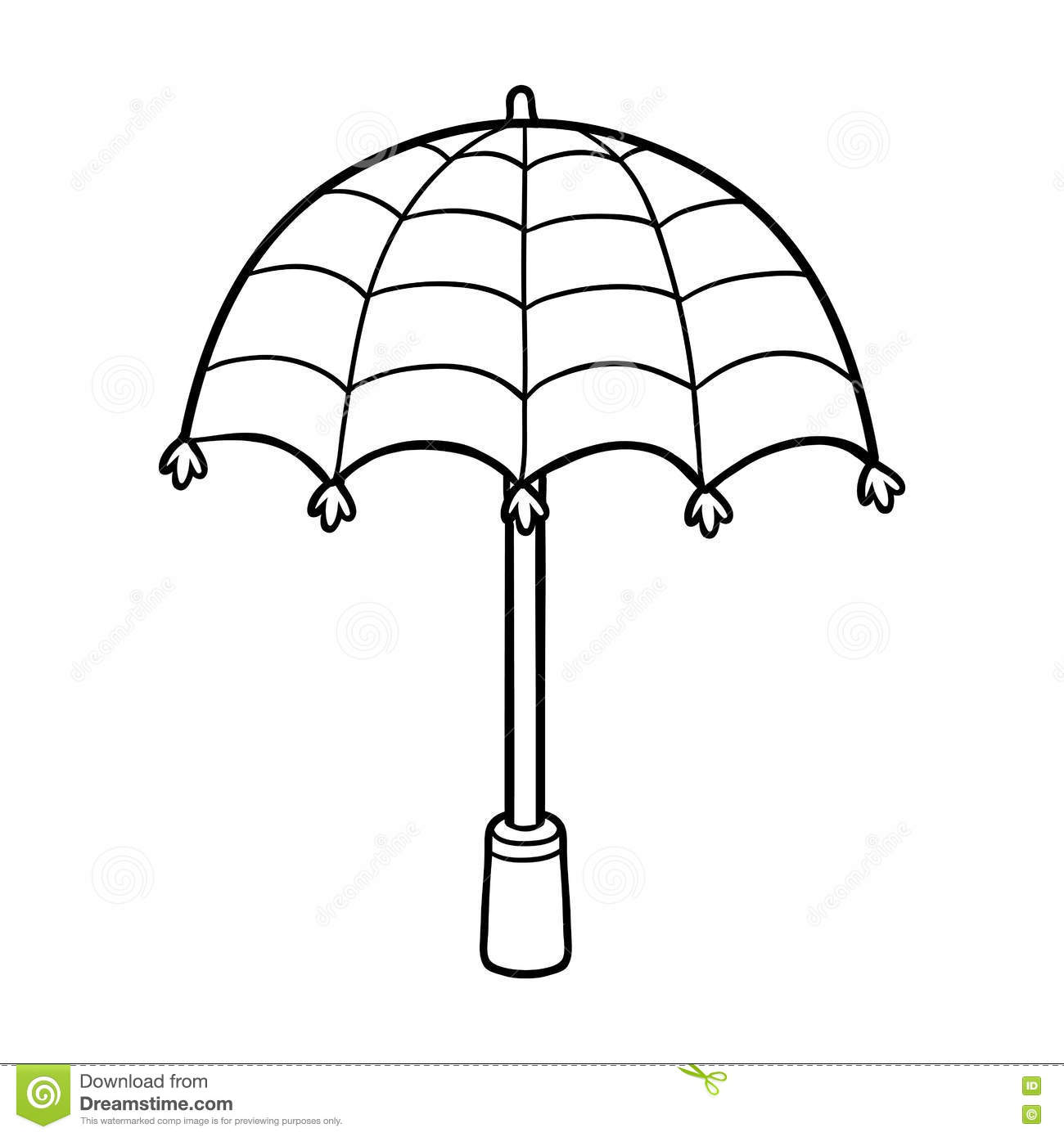 Coloring Book For Children Umbrella Royalty Free Stock Image