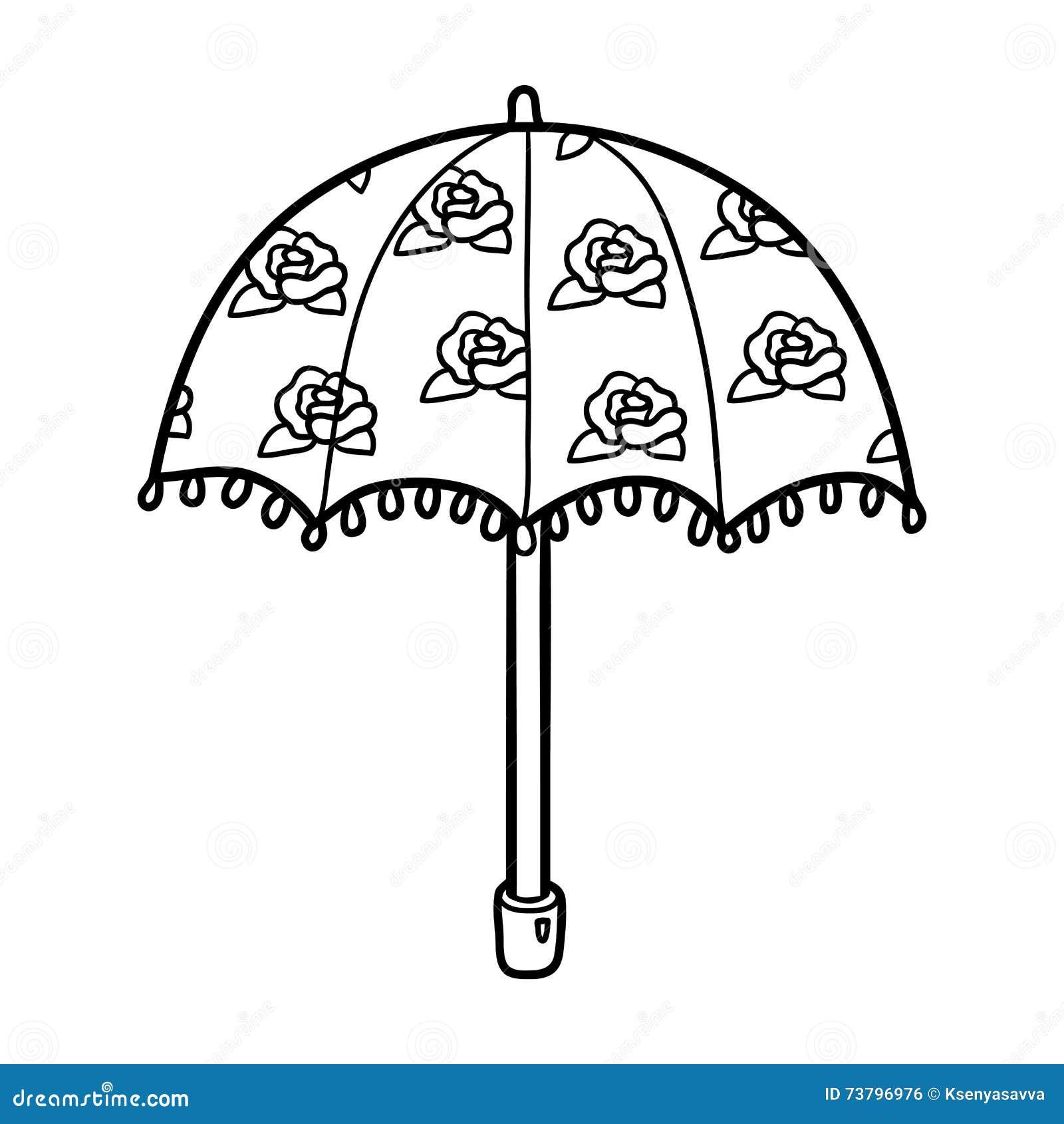 Coloring Book For Children Umbrella