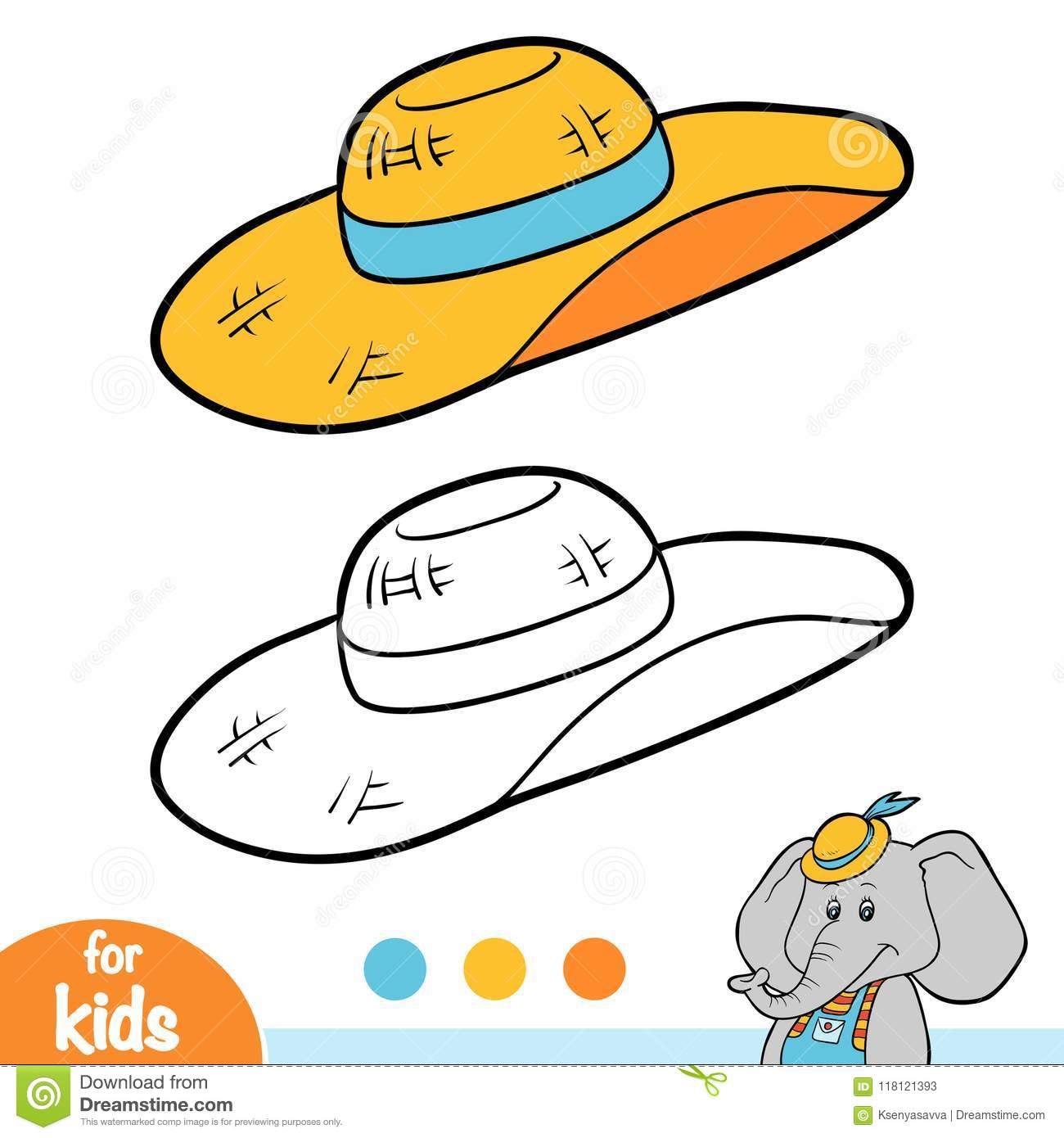 Coloring book for children womens sun hat