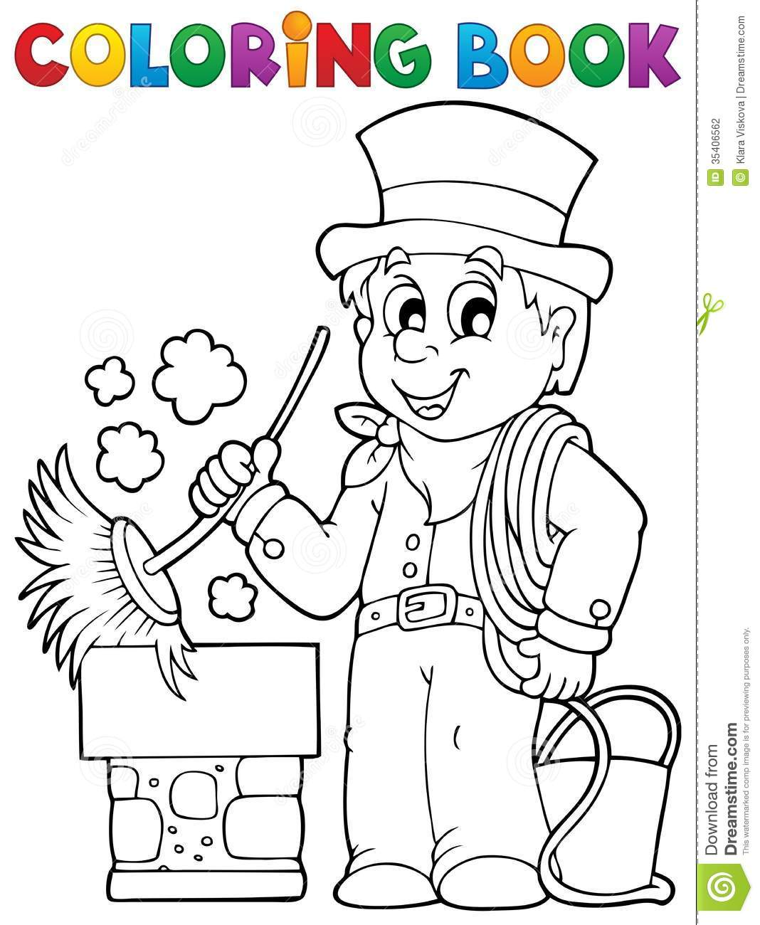 1068 x 1300 jpeg 134kB, Coloring book chimney sweeper - eps10 vector ...