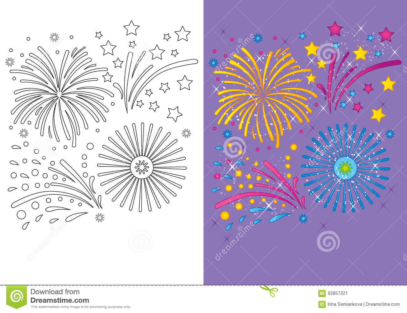 children waving at each other coloring page stock illustration