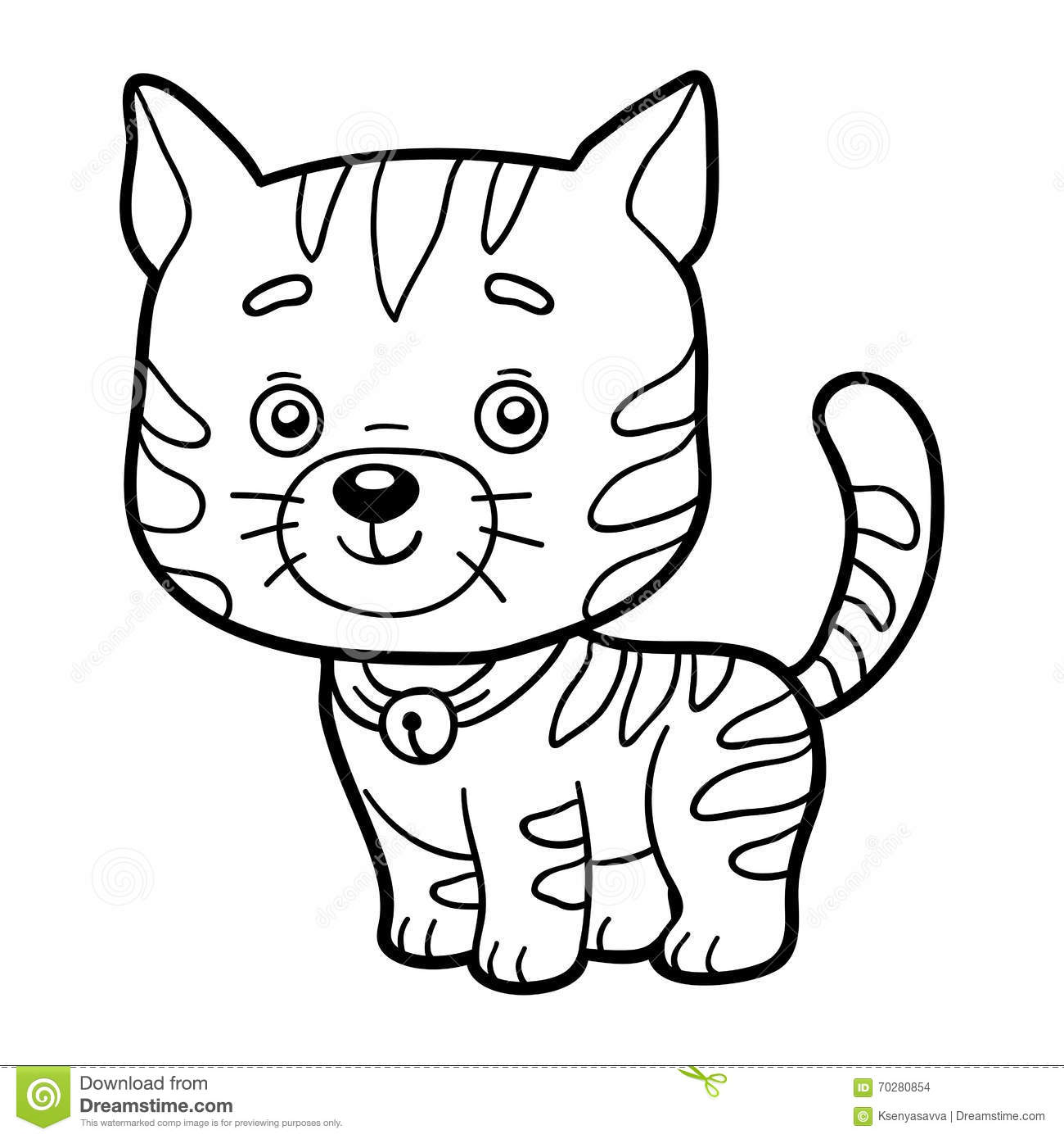 Coloring Book, Coloring Page (cat) Stock Vector - Illustration of ...