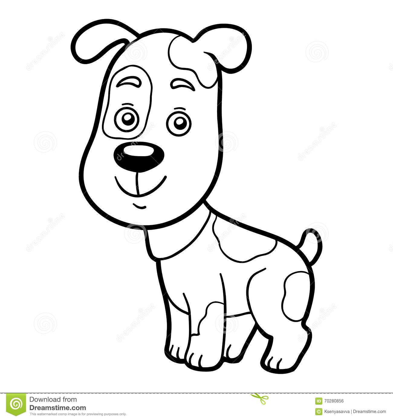 Coloring Book, Coloring Page (dog) Stock Vector - Illustration of ...