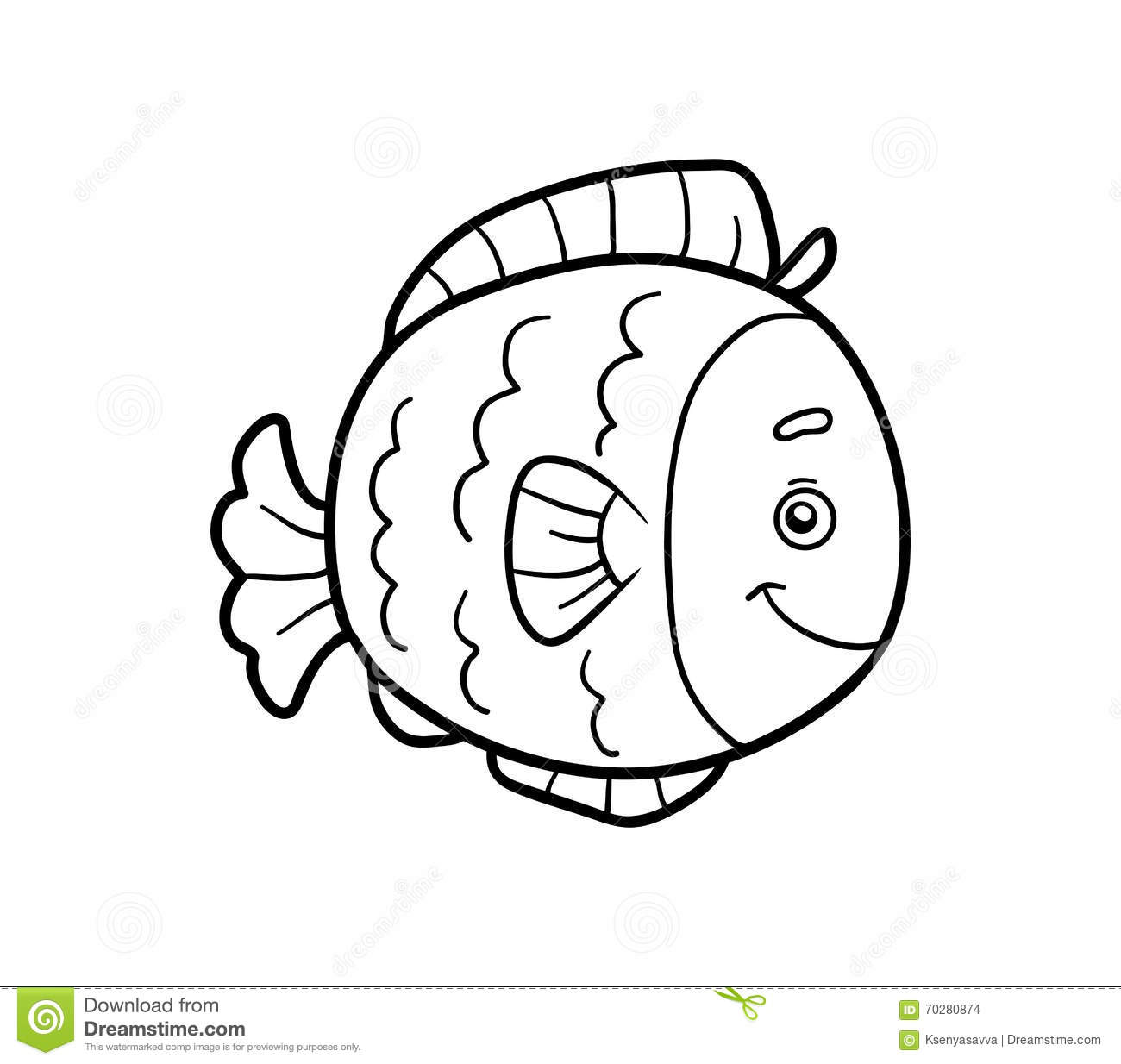 Coloring Book, Coloring Page (fish) Stock Vector - Illustration of ...