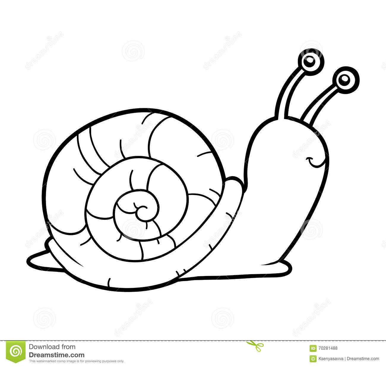coloring book coloring page snail