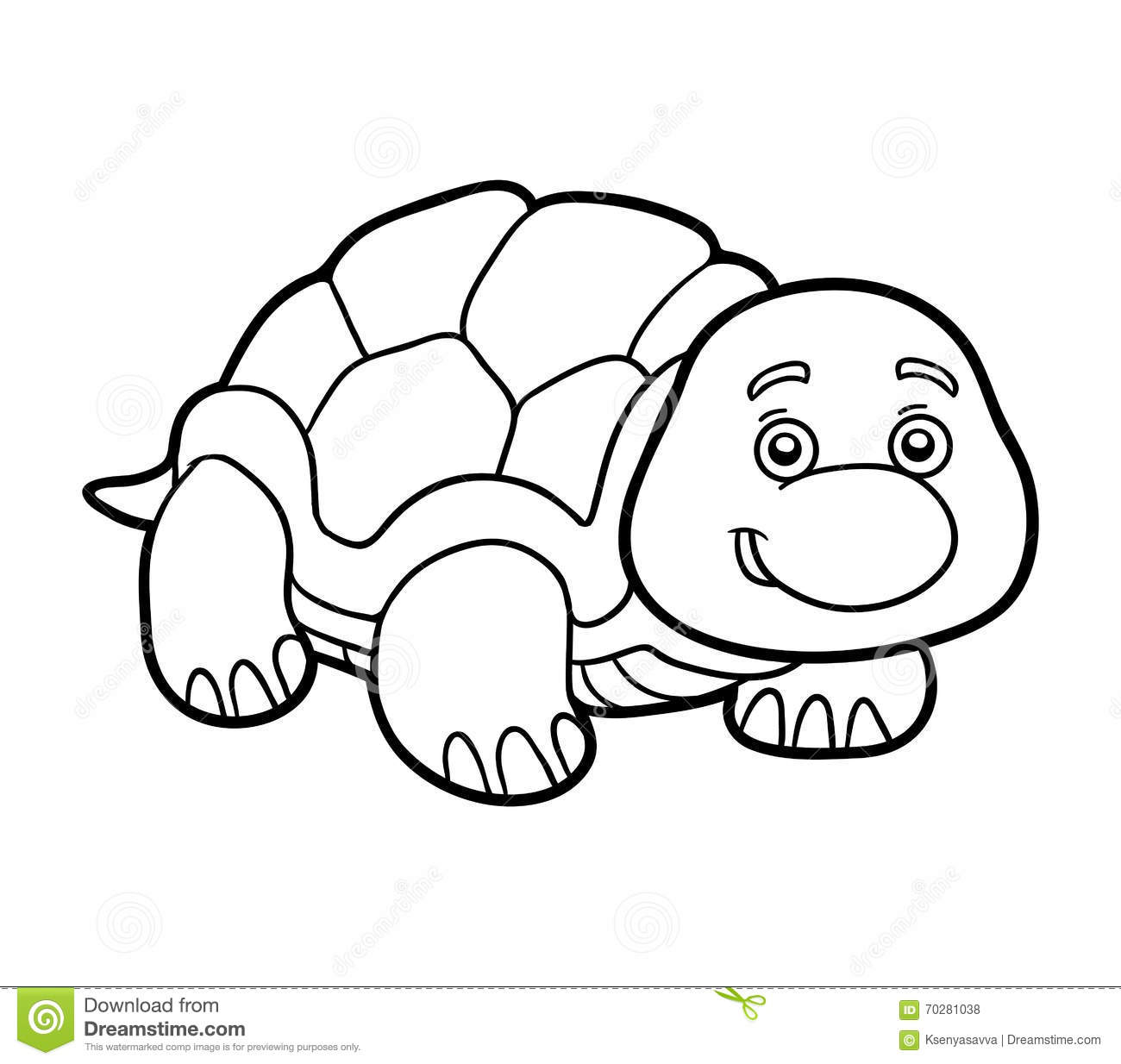Coloring Book, Coloring Page (turtle) Stock Vector - Illustration of ...