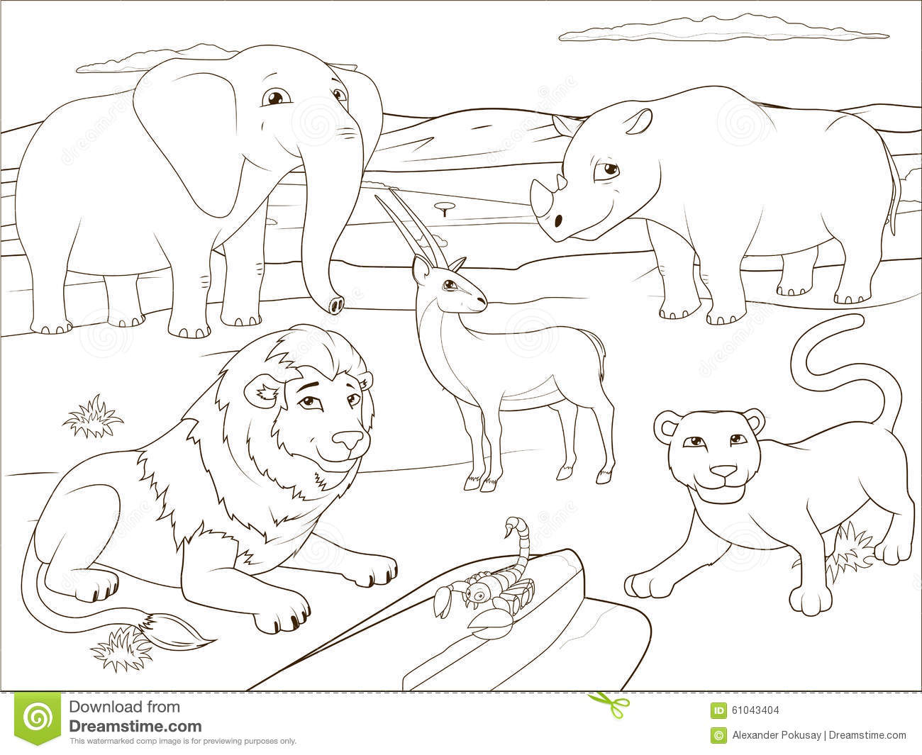 african savannah tree coloring pages - photo#19