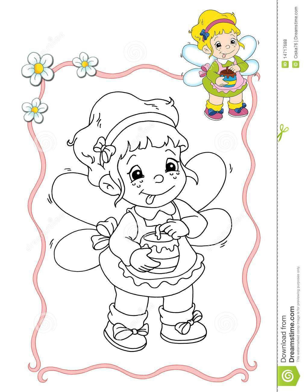 Coloring book - fairy 9