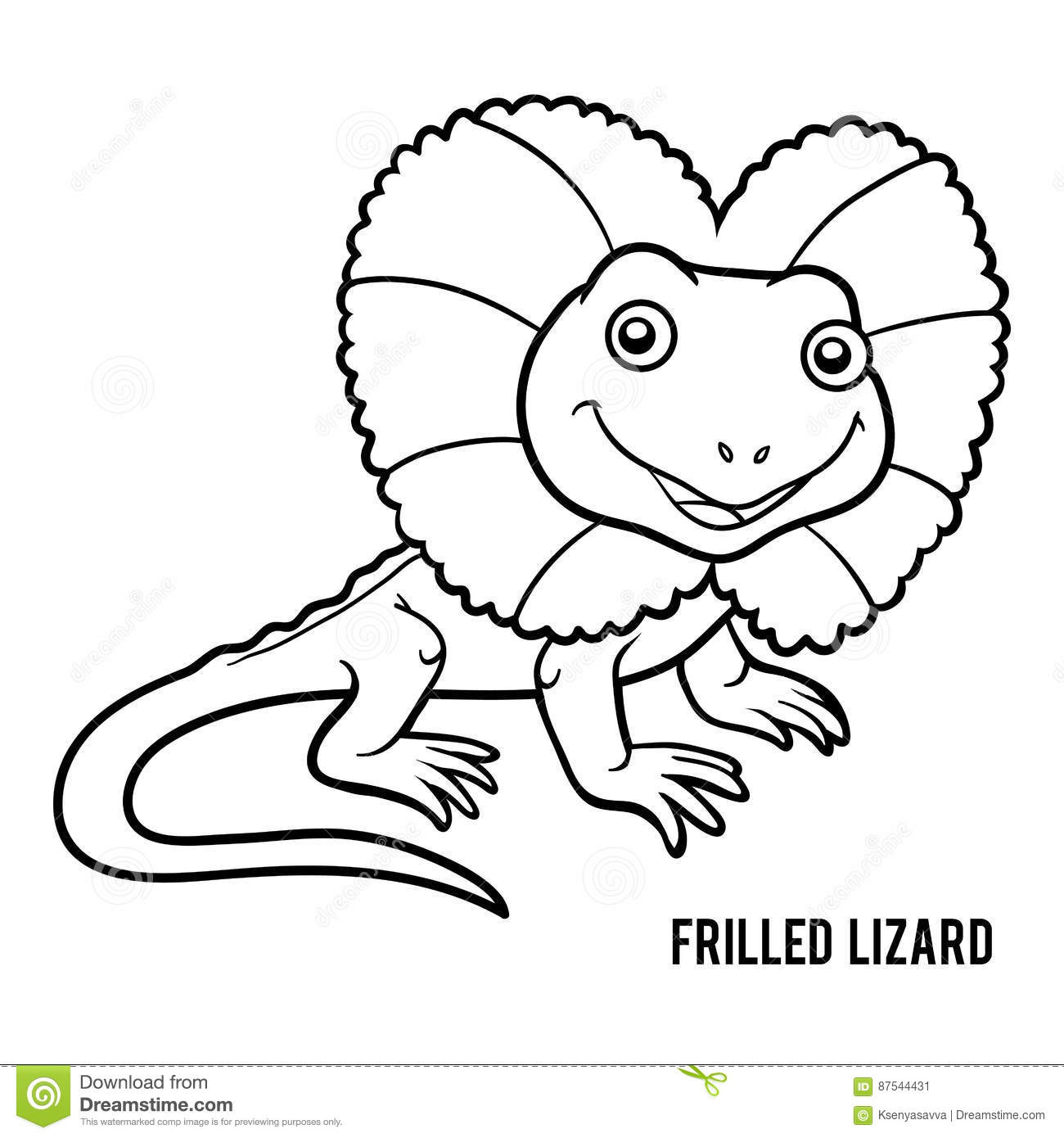 Frilled Lizard Coloring Pages