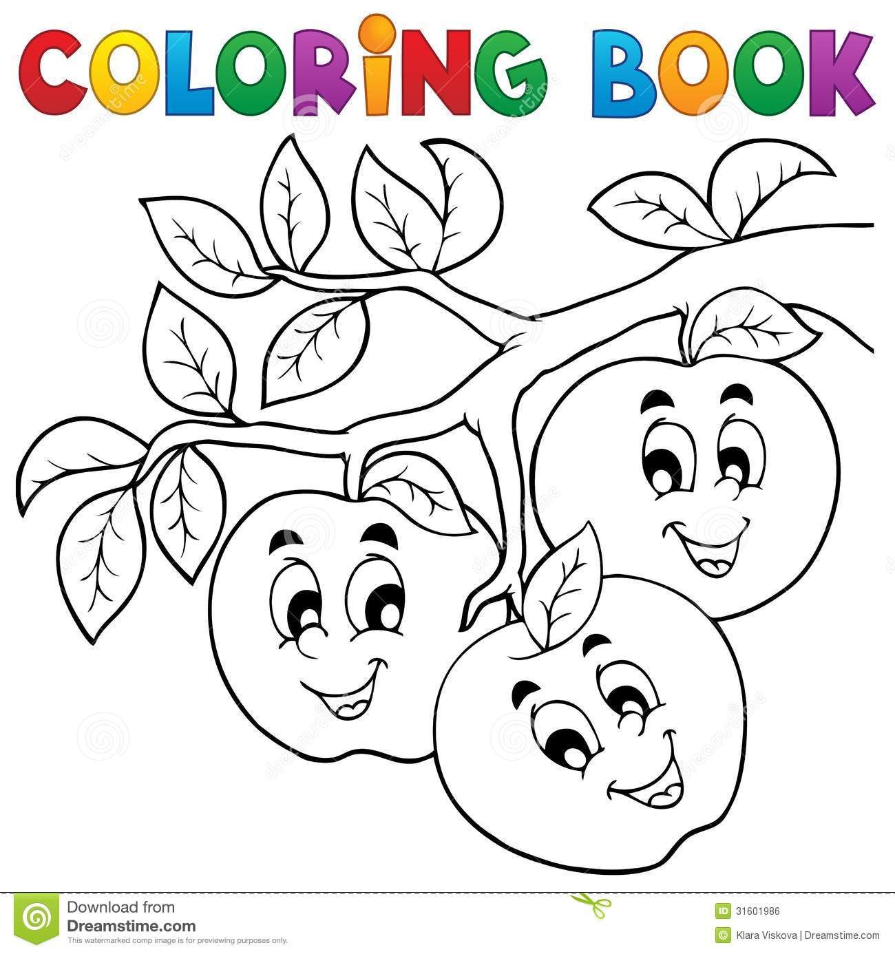 Royalty Free Stock Photo Download Coloring Book Fruit