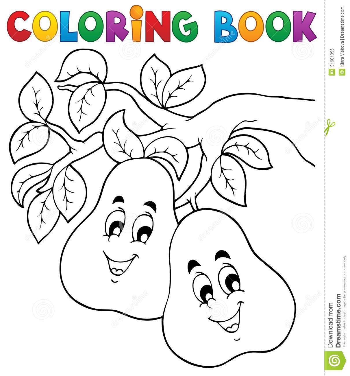 Book Coloring Eps10 Fruit