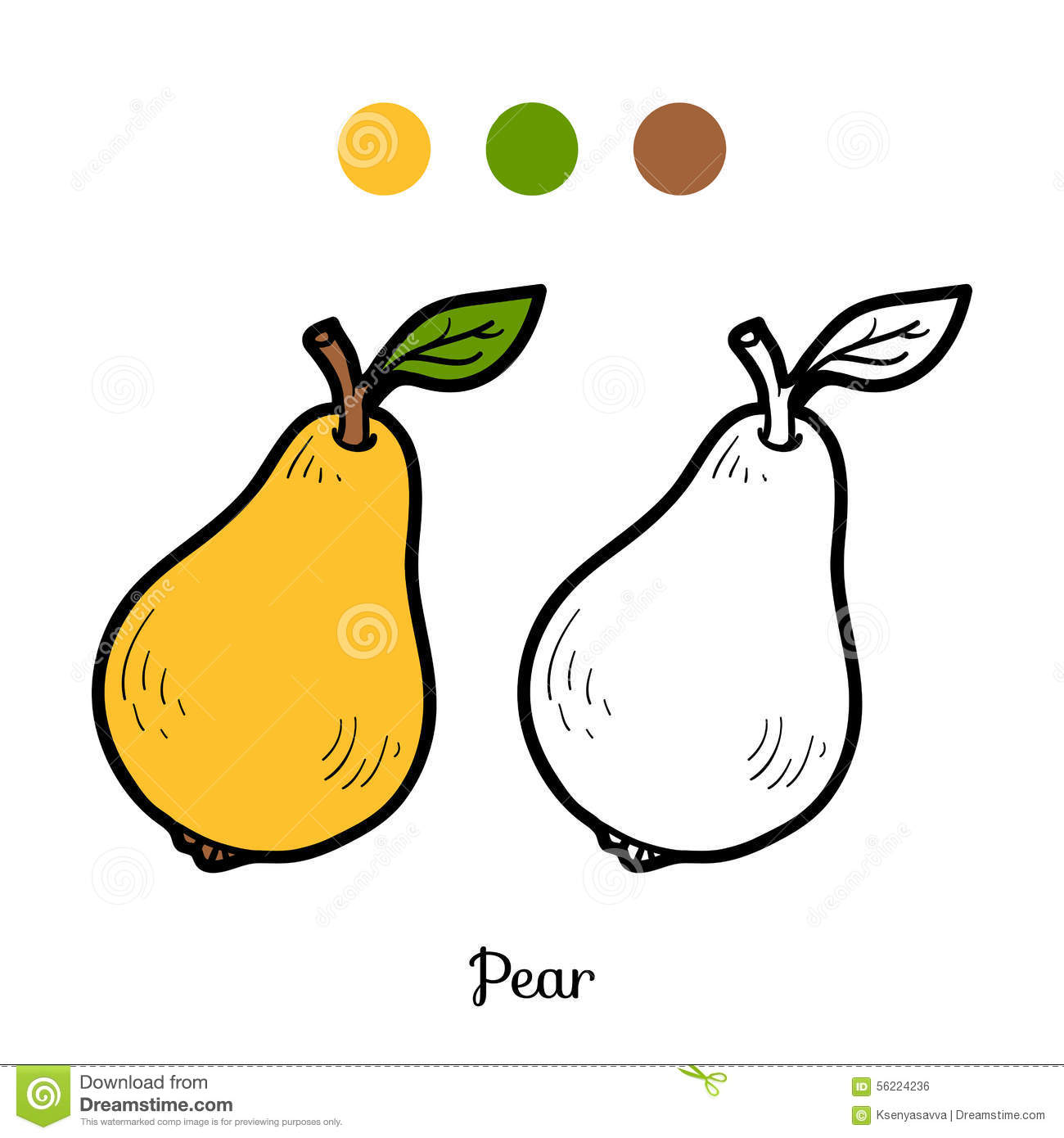 Coloring book pictures of vegetables - Coloring Book Fruits And Vegetables Pear Royalty Free Stock Image