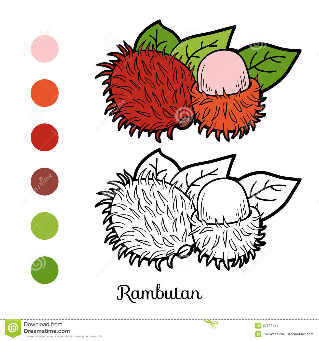 Free Coloring Page Vegetables