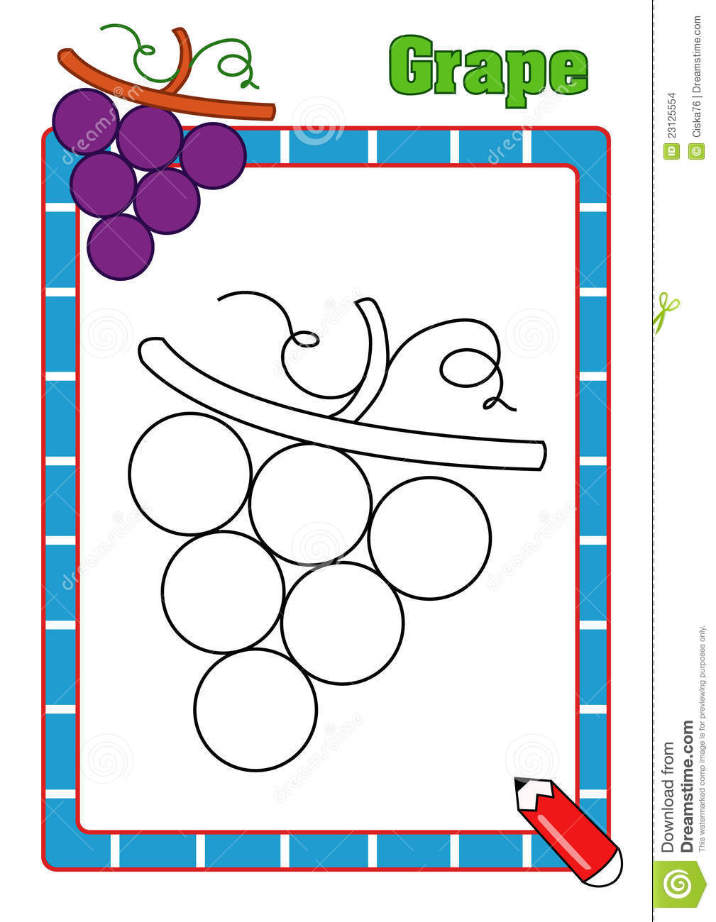 Coloring pages grapes - Coloring Book Grape
