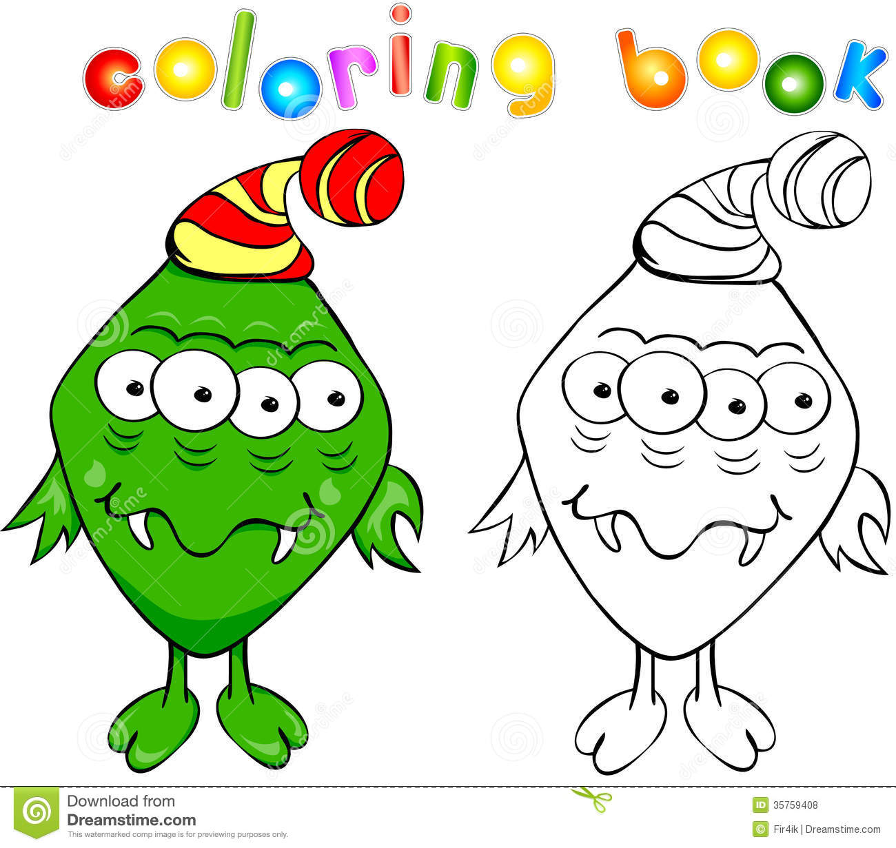 wally the green monster coloring pages - photo #34