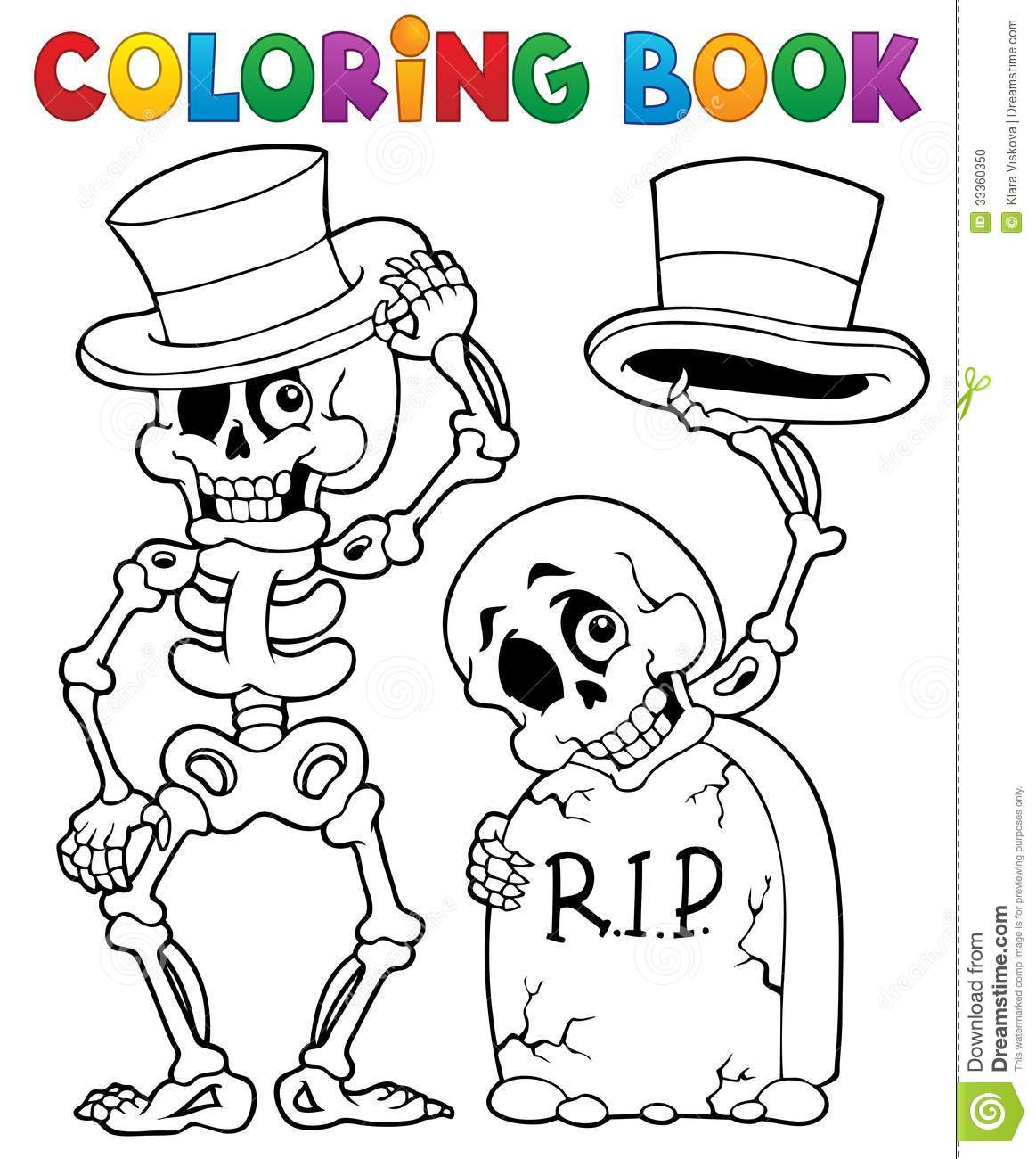 Coloring Book Halloween Character 6