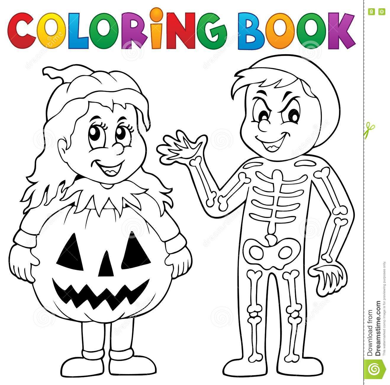Book Coloring Costumes Eps10 Halloween